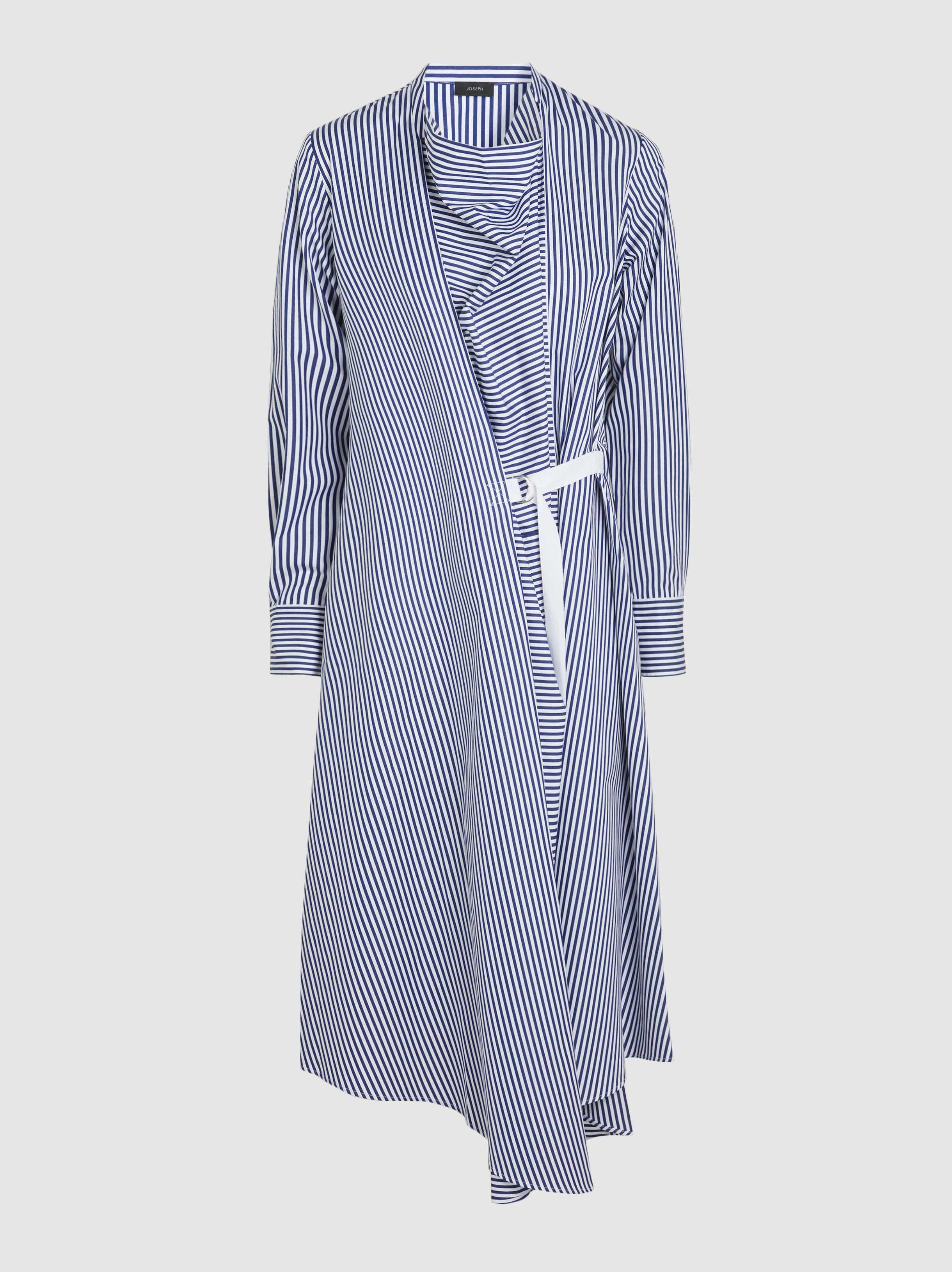 Arran Striped Cotton Midi Dress Joseph