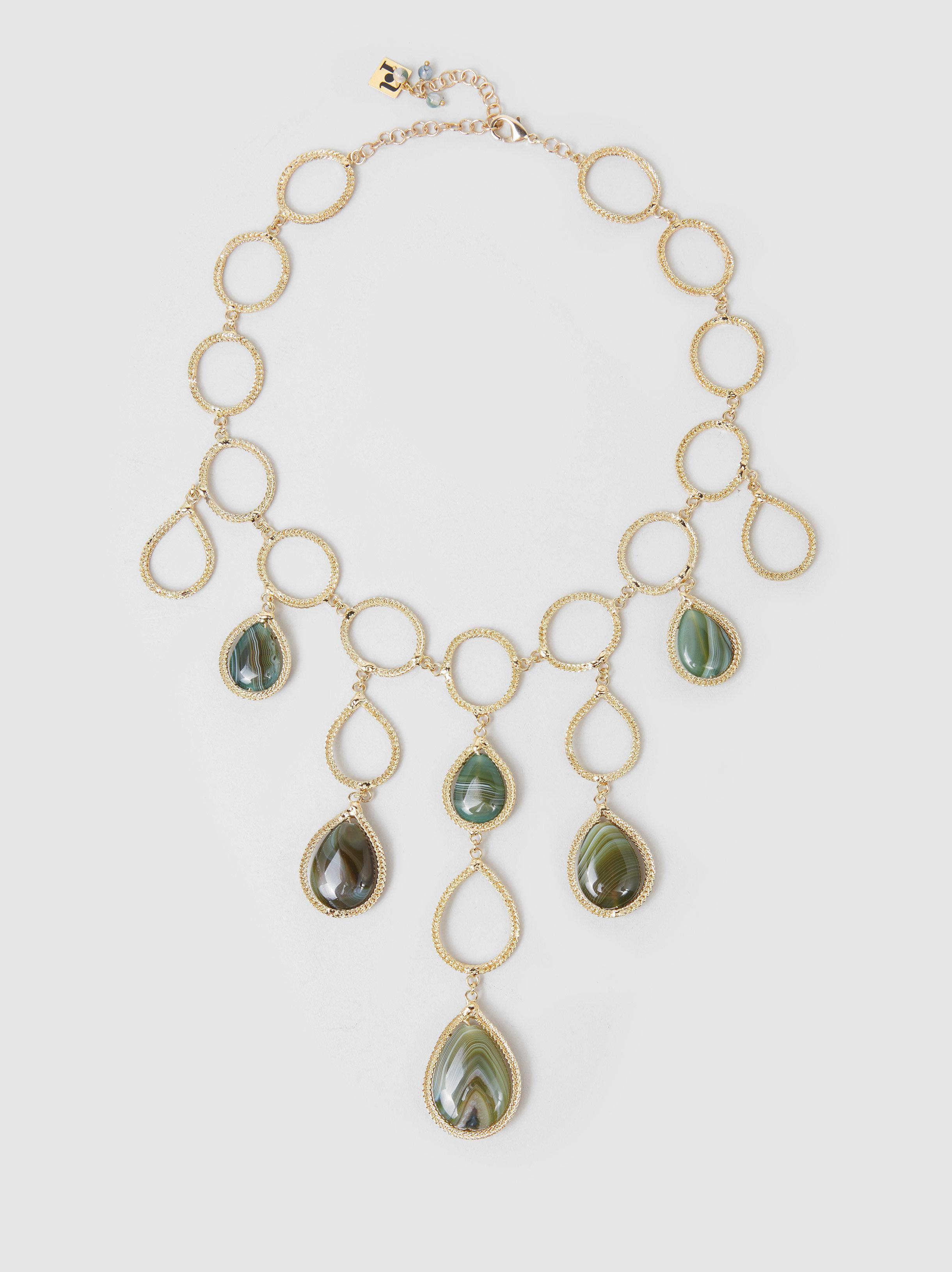 Rosantica Scarabeo agate-drop necklace jDVI5AWe5I