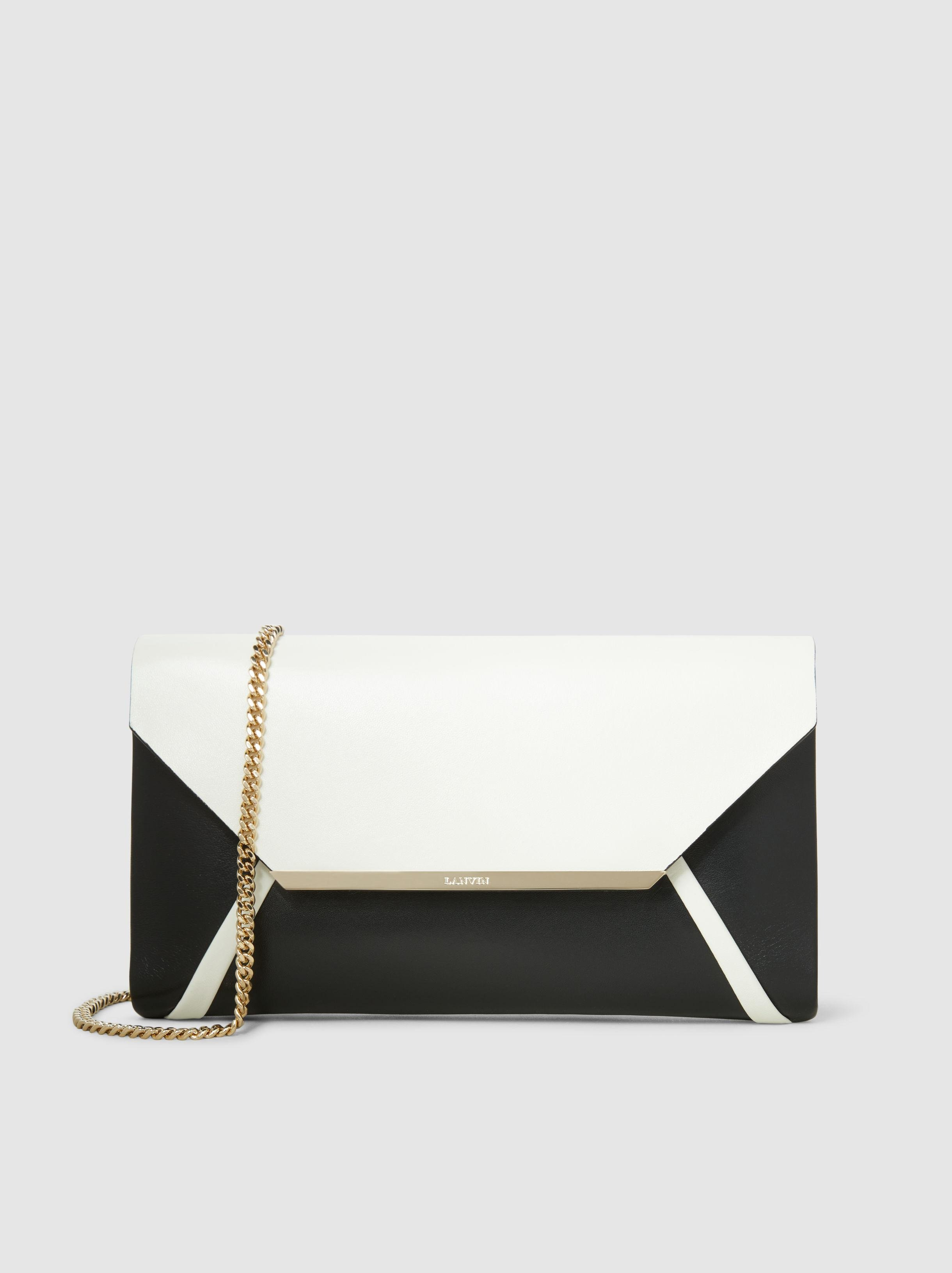 Two-Tone Leather Clutch Lanvin