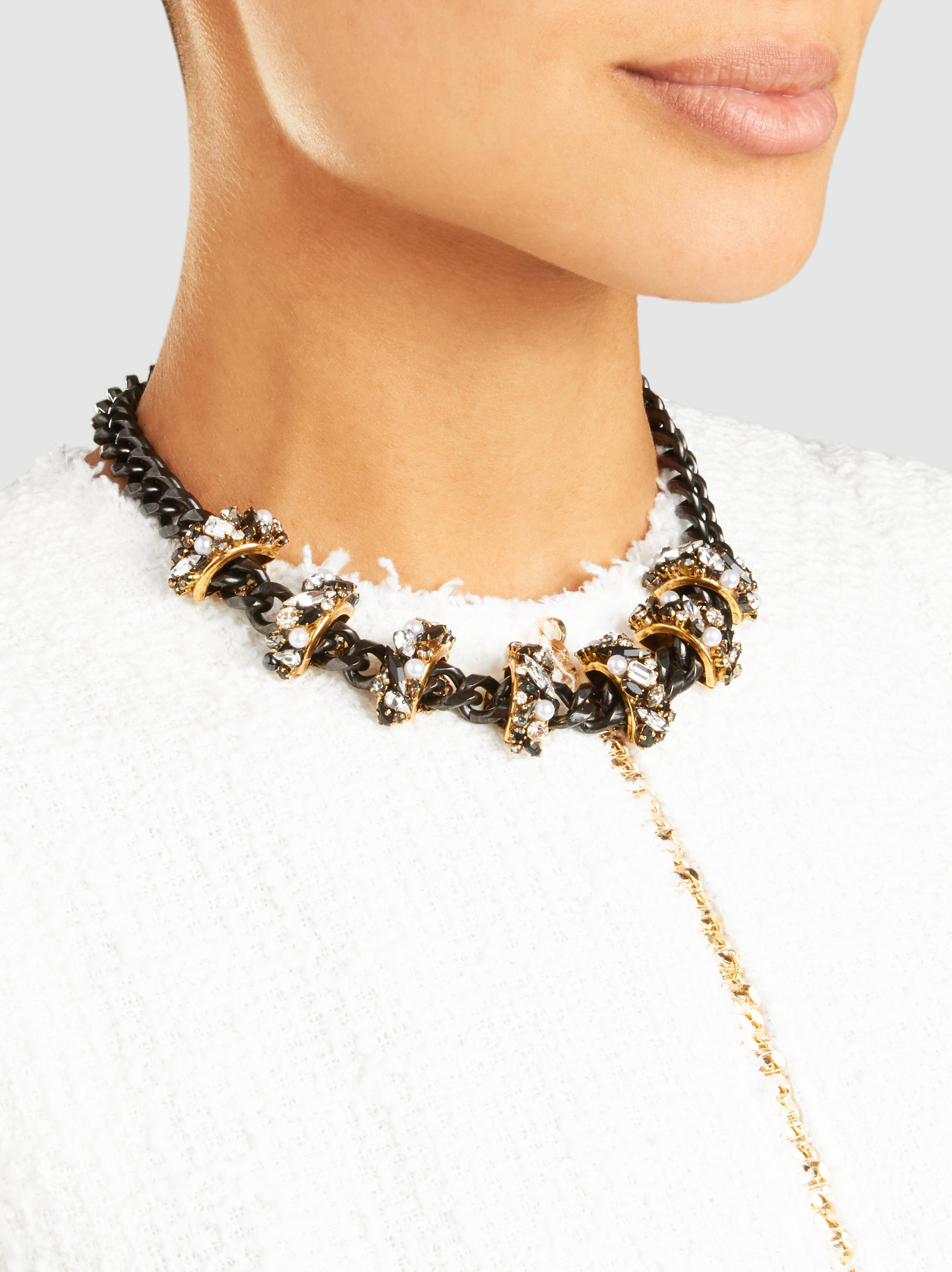 Life in the Fast Lane Embellished Necklace Erickson Beamon L67yGAI