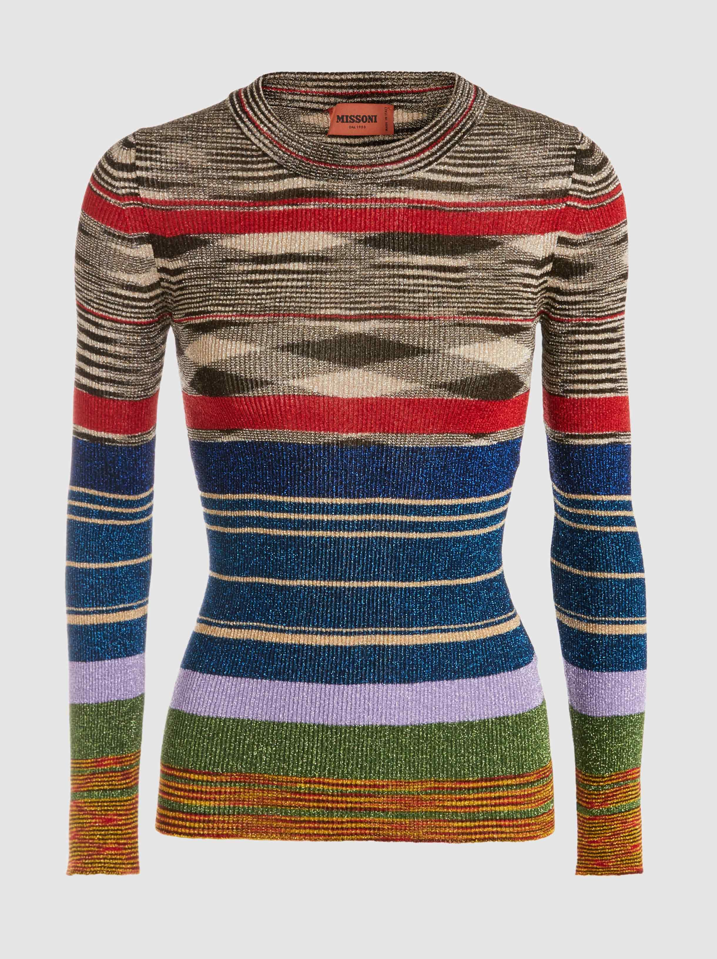 Metallic Ribbed-Knit Sweater Missoni Very Cheap Clearance Low Price Fee Shipping For Sale Cheap Online Buy Cheap Outlet Locations Cheap Sale Limited Edition OxW69sX