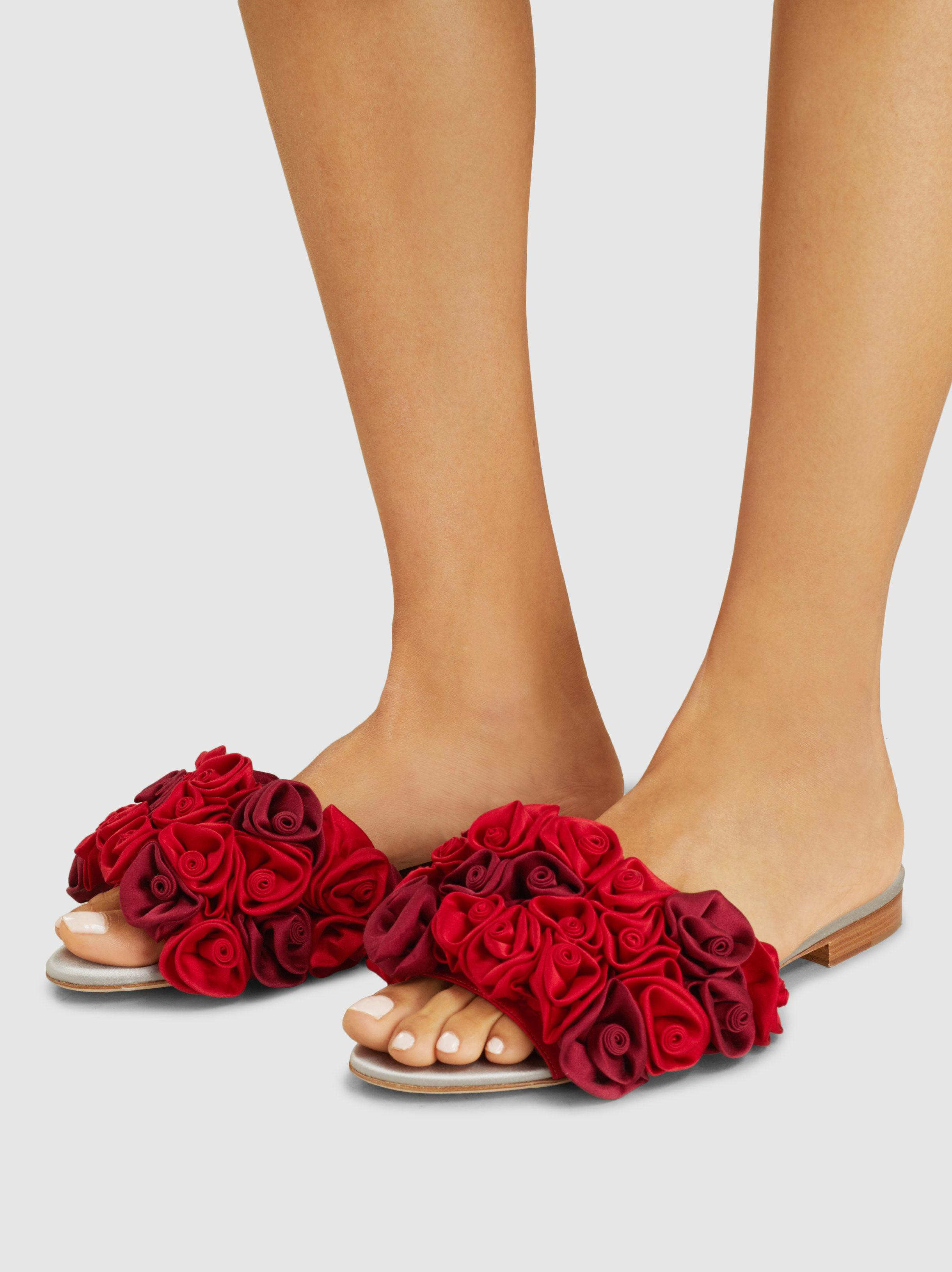 Fast Express MALONE SOULIERS Bacilio Satin Rose Sandals Extremely Cheap Online Sale Manchester Great Sale Clearance Big Discount ZuuNv