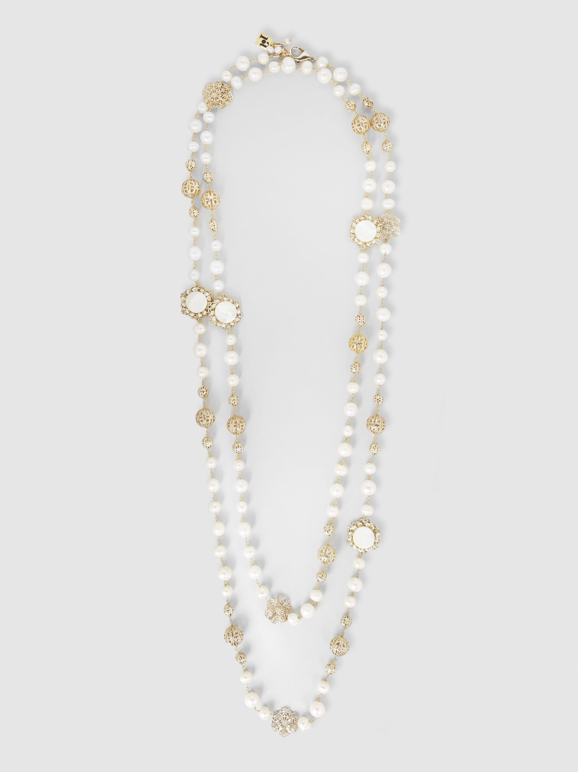 Corte Collar De Perlas - Rosantica Metálica bIOdA