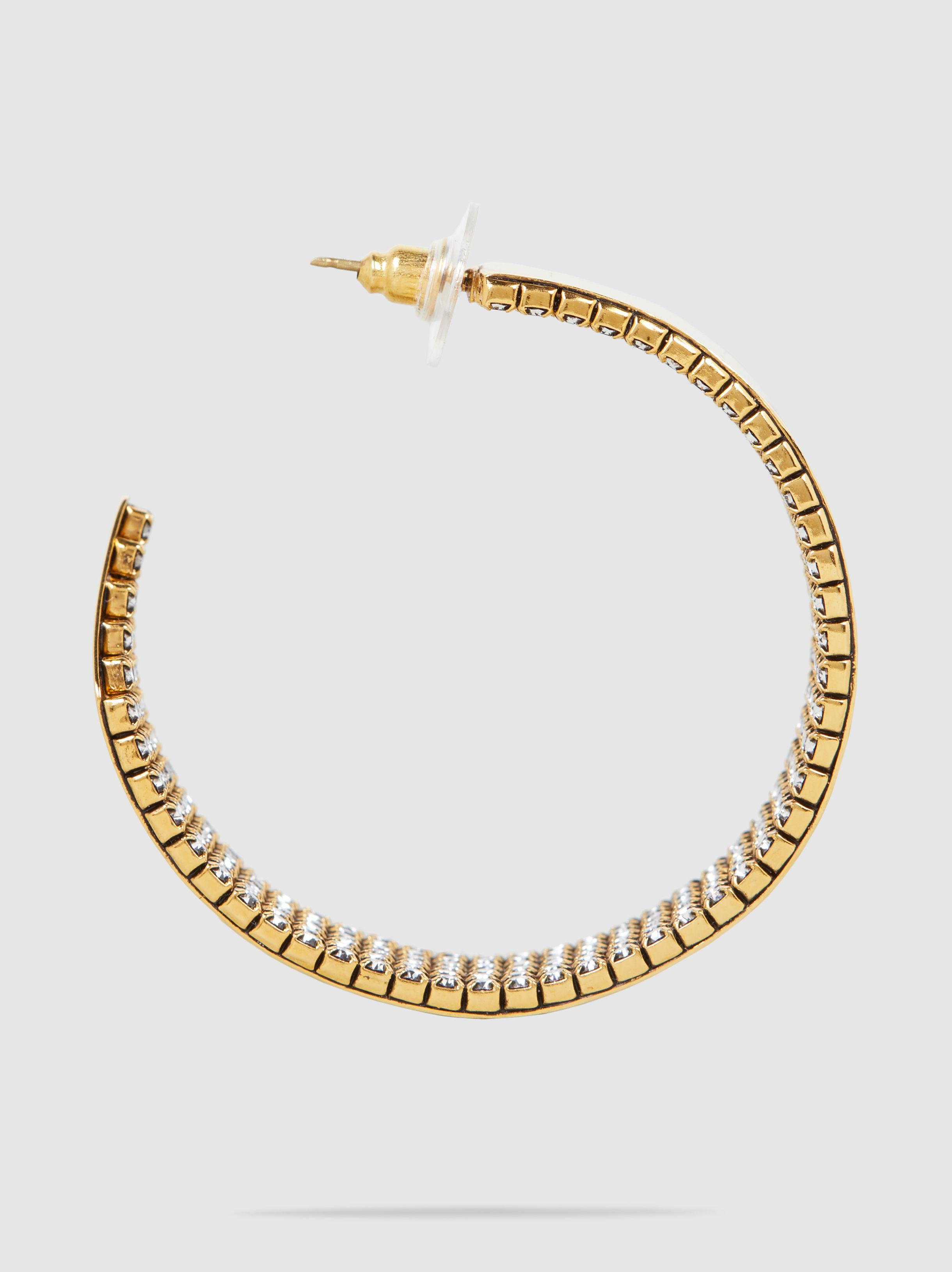 Crystal & Gold-Plated Hoop Earrings Erickson Beamon q3uf1YTQWL