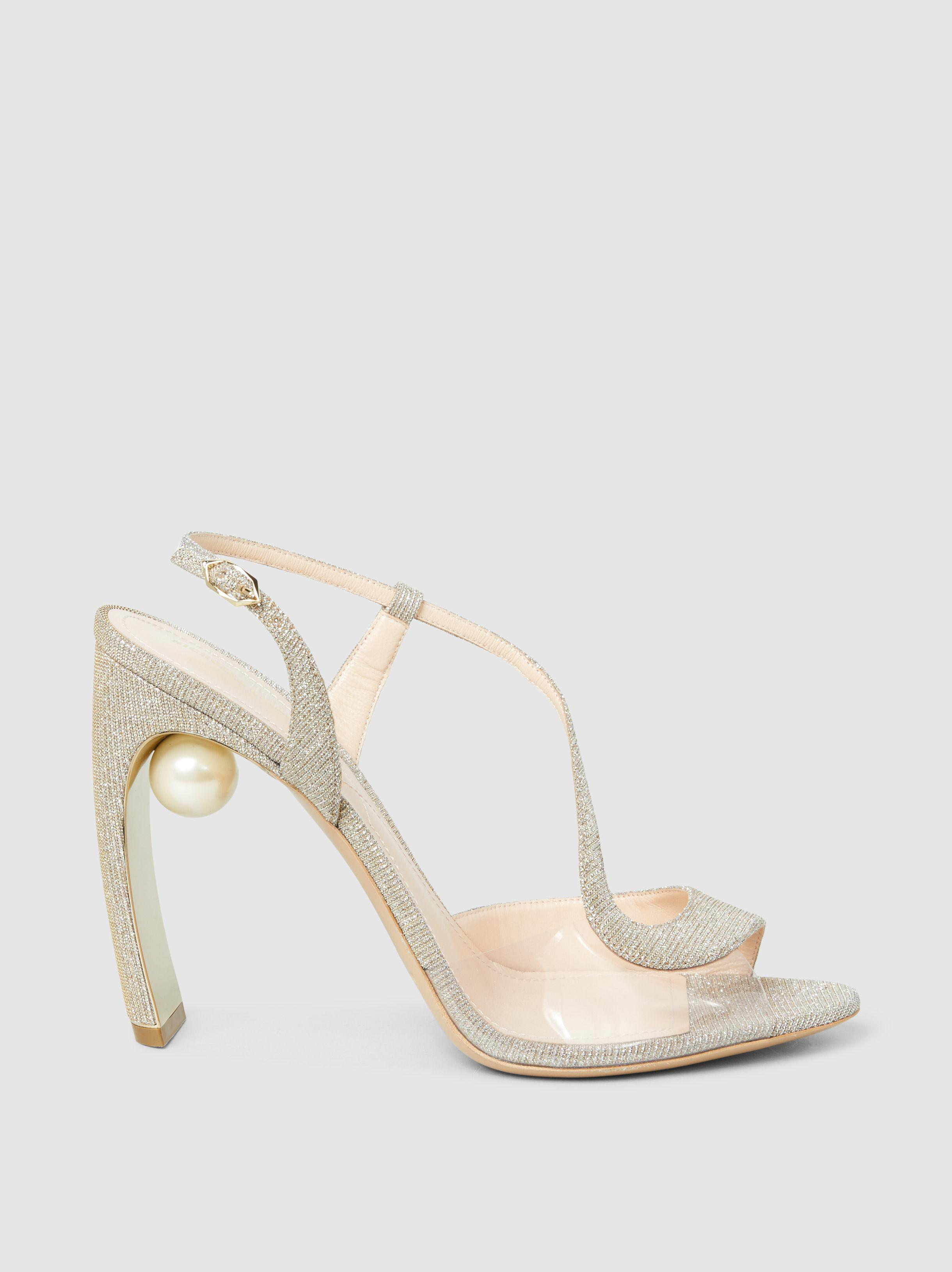 9349259c4 nicholas-kirkwood-Metallic-Maeva-Embellished-Glittered-Canvas-Sandals.jpeg