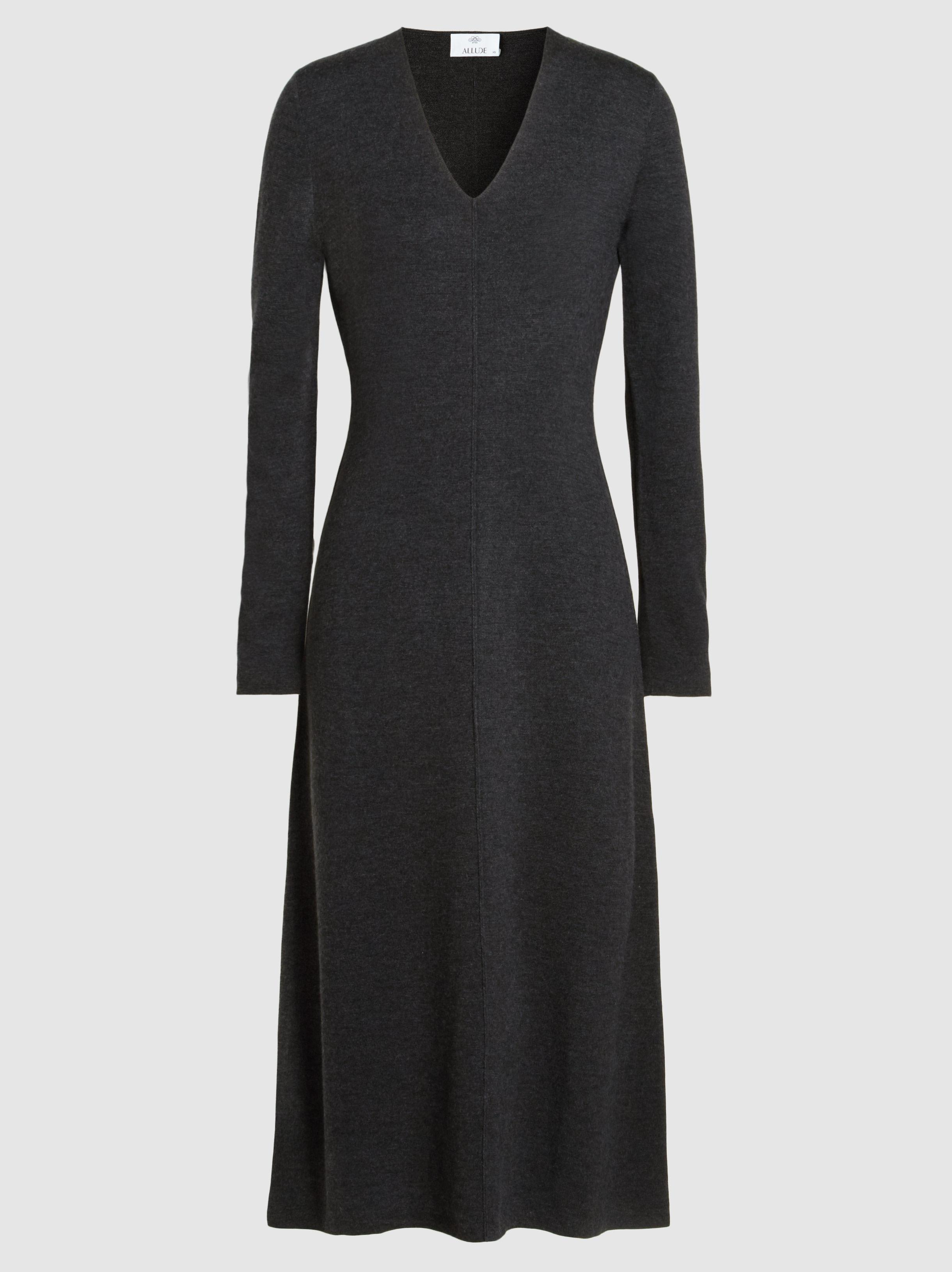 Clearance Cheap Price Clearance Latest Collections A.l.c. Woman Button-detailed Ribbed Merino Wool-blend Midi Dress Black Size XS A.L.C. Lowest Price TYBnQVN