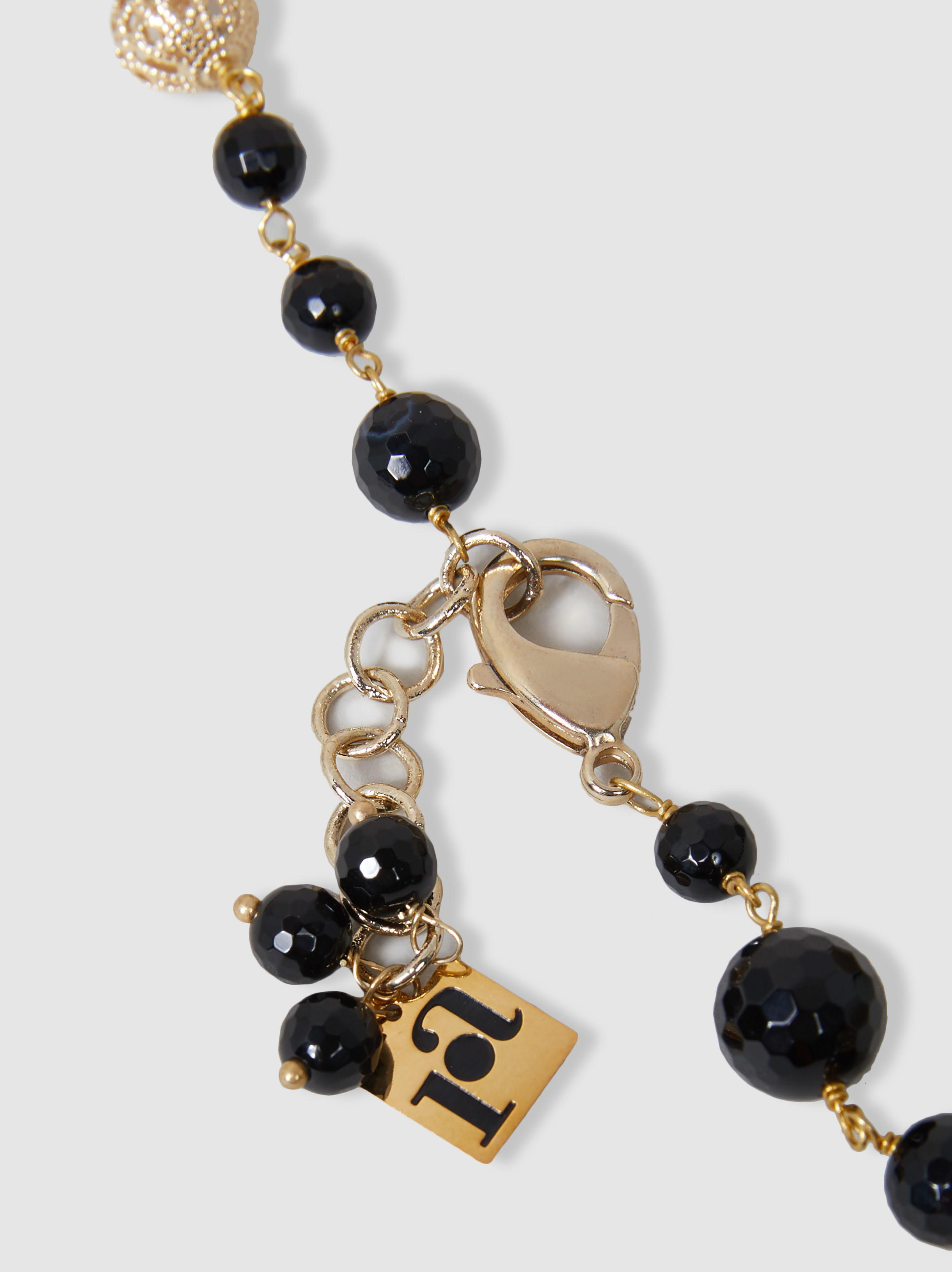 Mistico Beaded Onyx And Gold-Tone Necklace Rosantica 31B8puE5