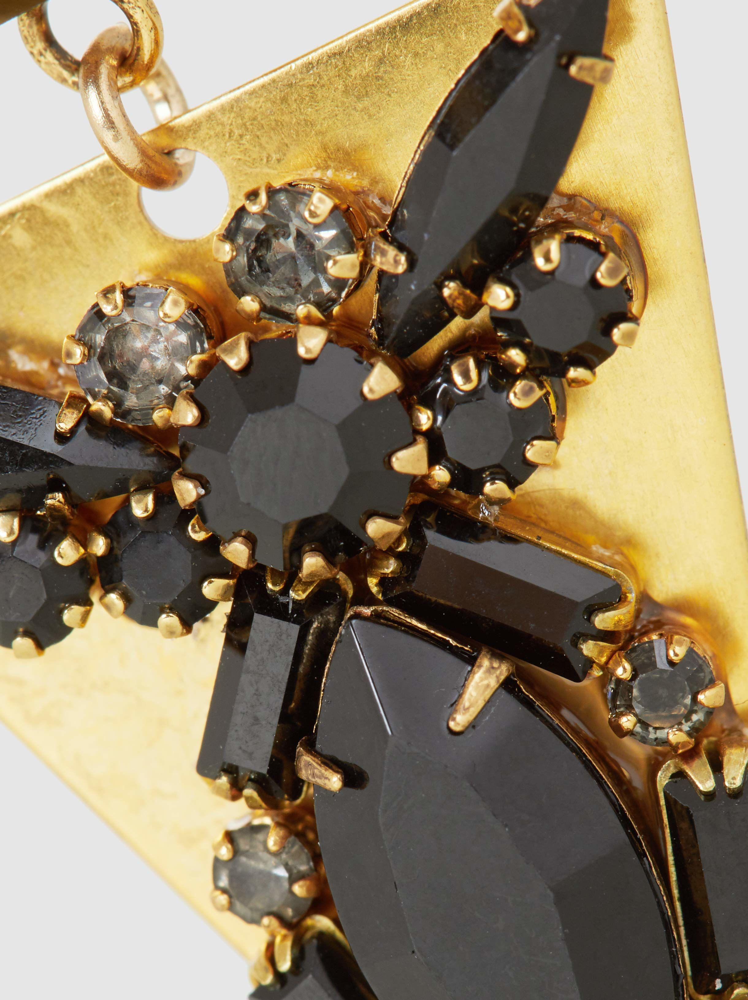 Erickson Beamon Lady Luck Embellished Gold-Plated Earrings gJrWTkshg