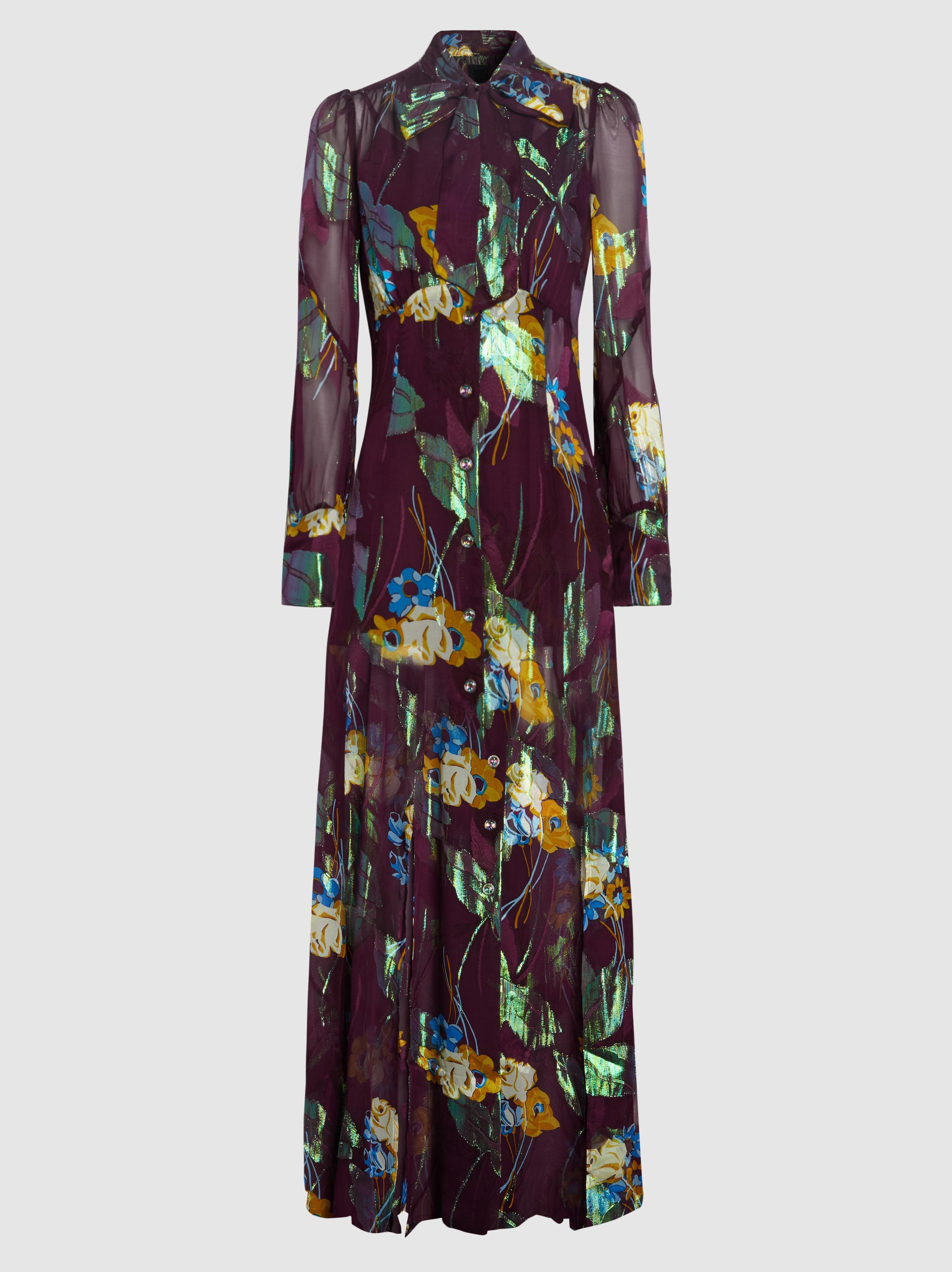 Blithe Spirit Silk-Blend Jacquard Maxi Dress Anna Sui 7Tgfp9EQZ