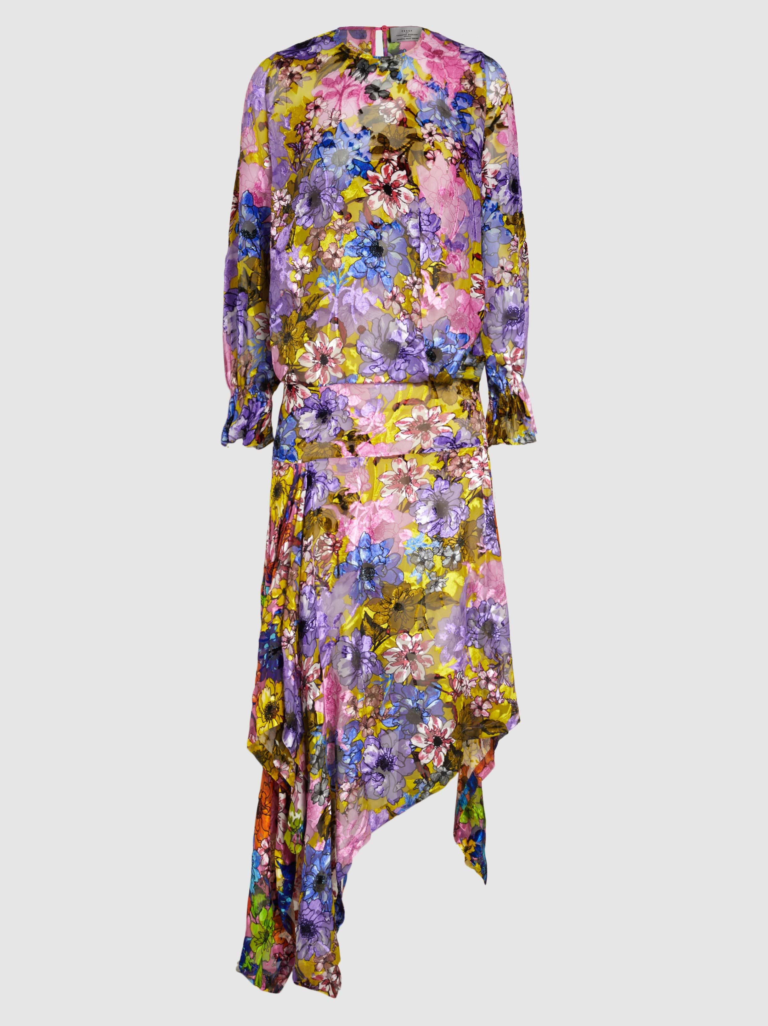 Thistle Devoré Satin-Jacquard Midi Dress Preen MIL81
