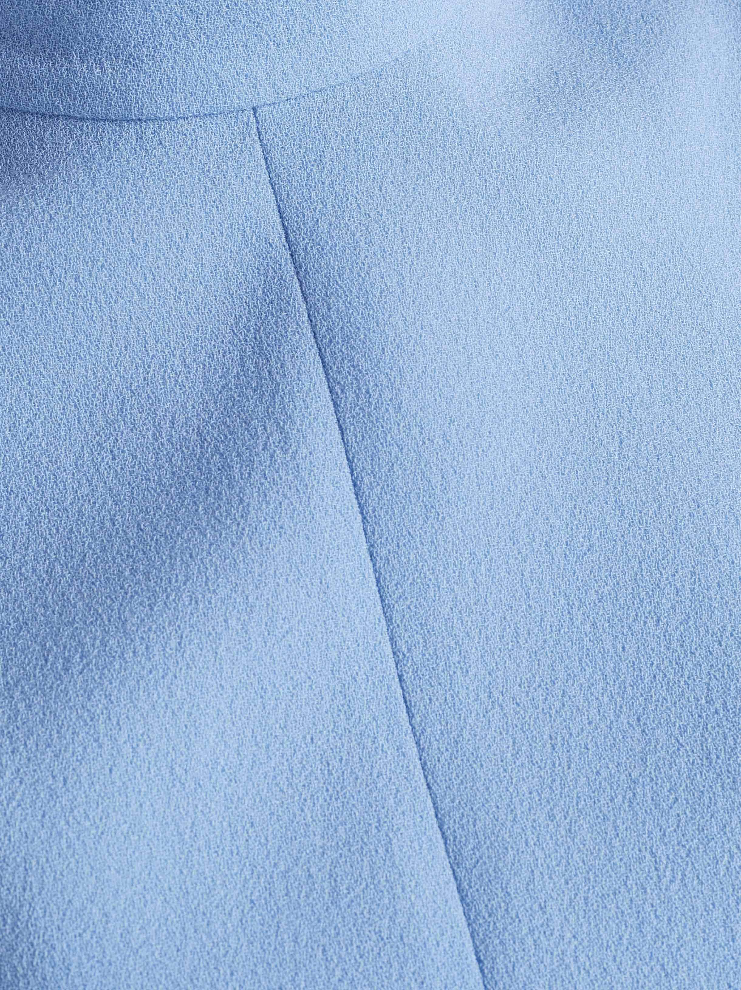 0a70dbcb39 Emilia Wickstead Elvis Belted Wool-crepe Jumpsuit in Blue - Lyst