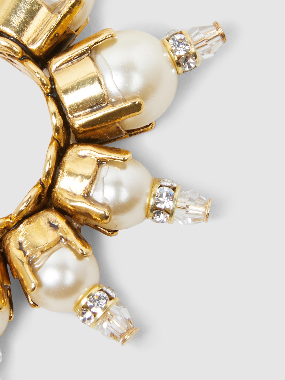 Erickson Beamon Gold-Plated Pearl Embellished Hoop Earrings XvV46x