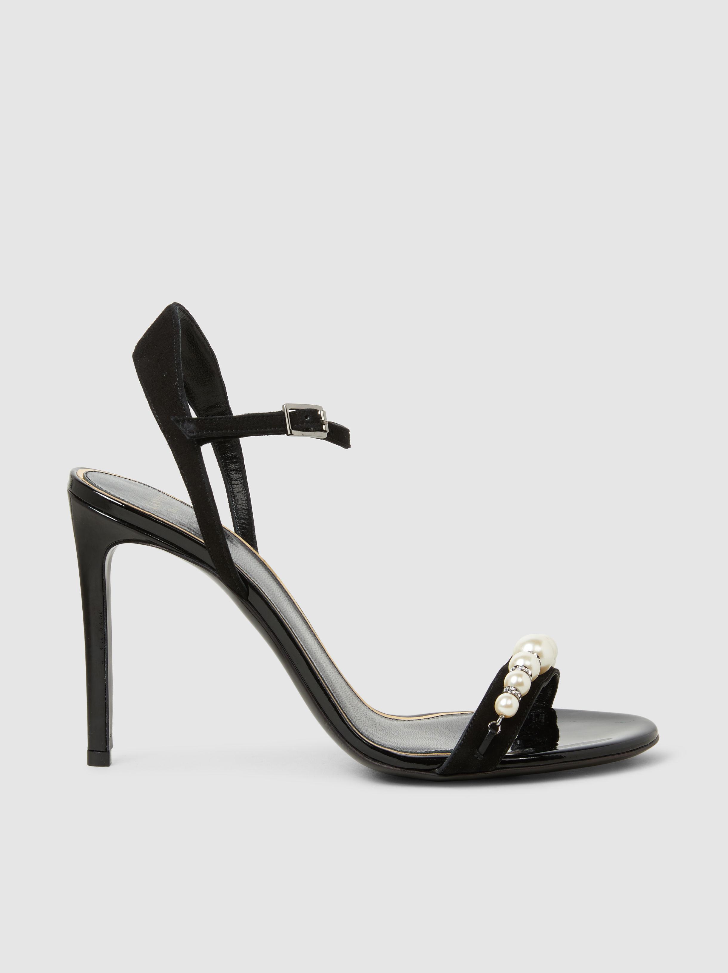 Lanvin Pearl-Embellished Suede Sandals 9hKw76uB