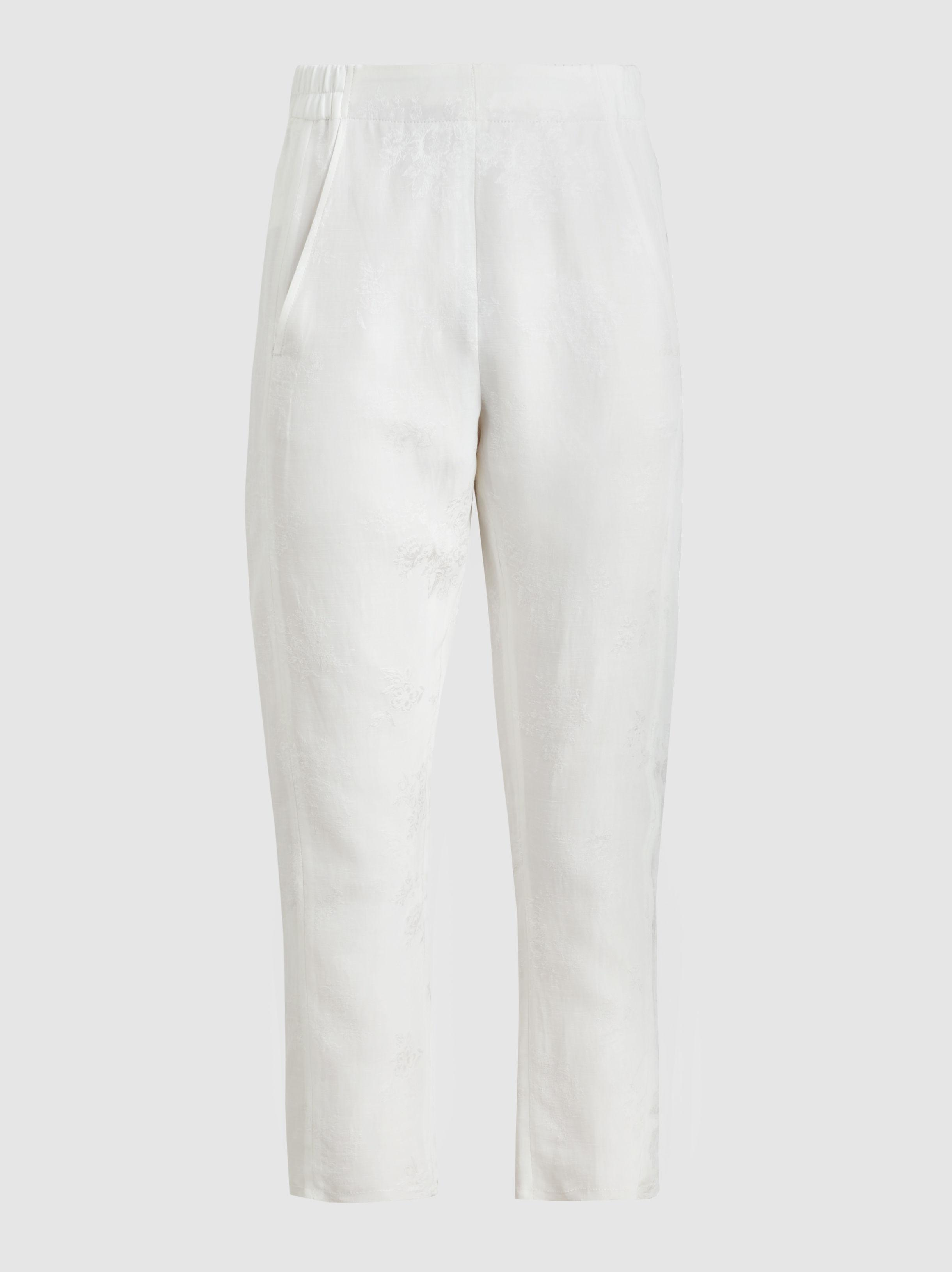 slim-fit embroidered trousers - White Ann Demeulemeester RWZZpHnC