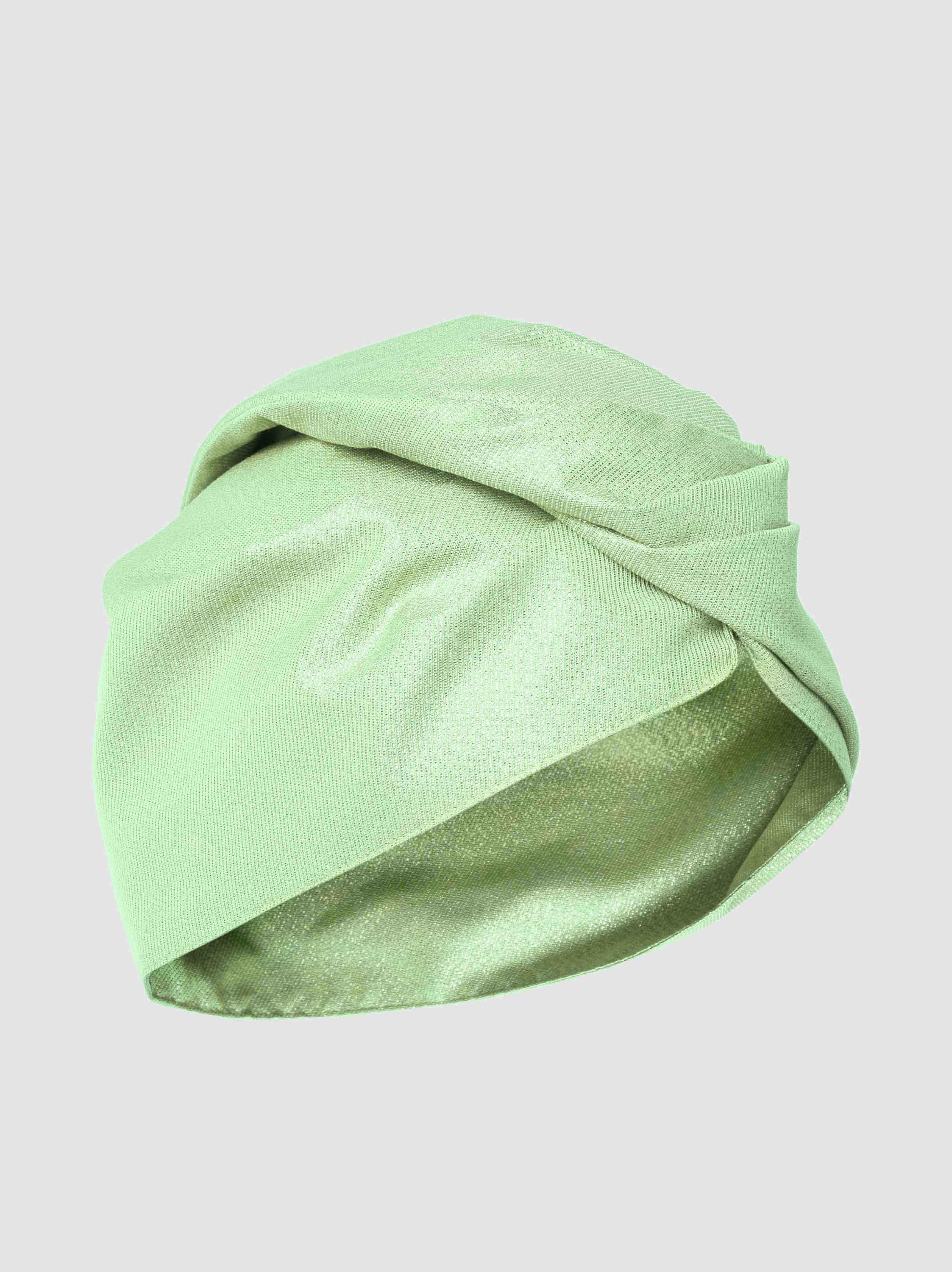 Green Metallic Turban Taller Marmo VojEbxSMOI