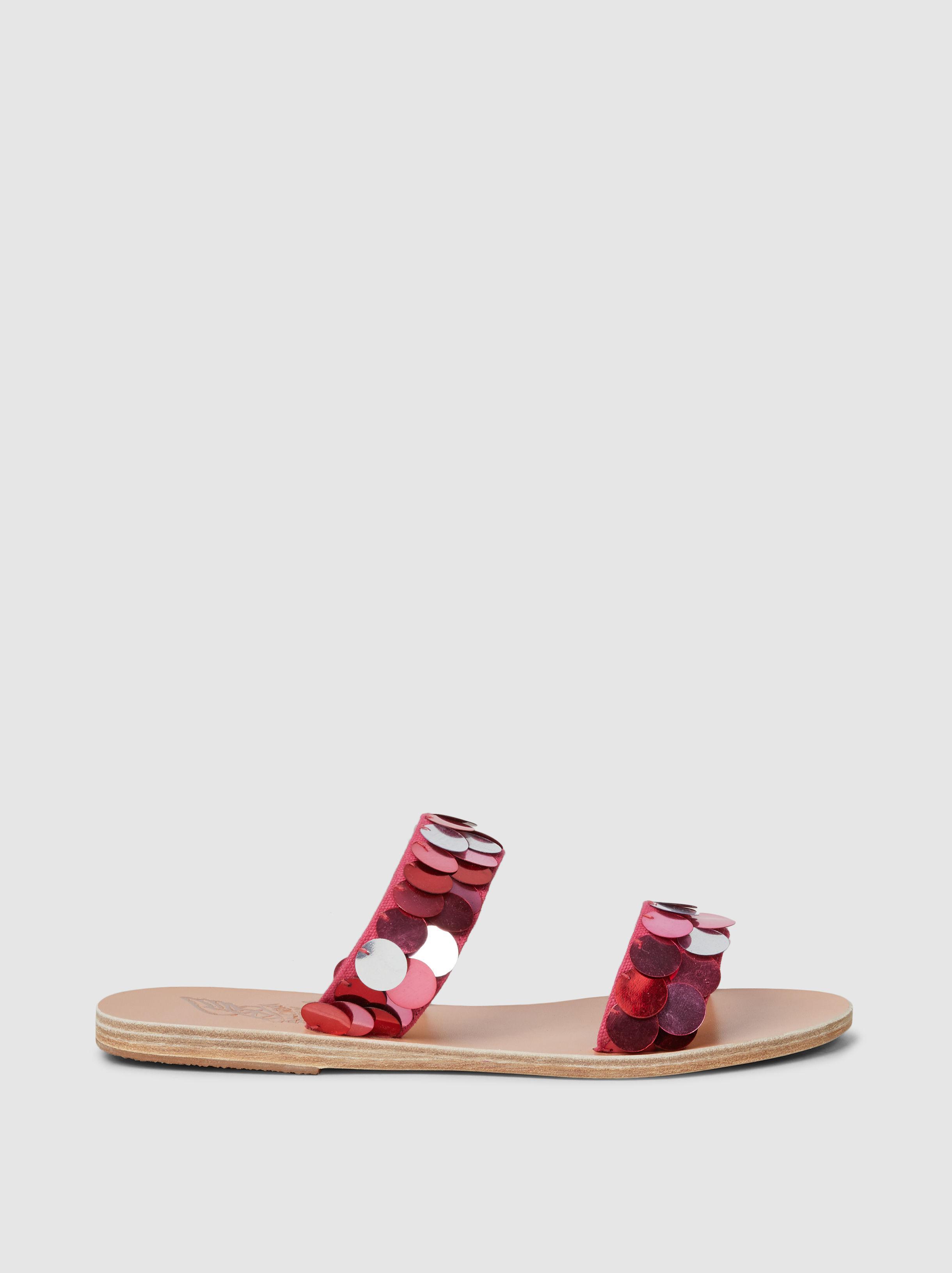 bf8b3bedc9b22 Lyst - Ancient Greek Sandals Poukia Paillette-embellished Leather Slides