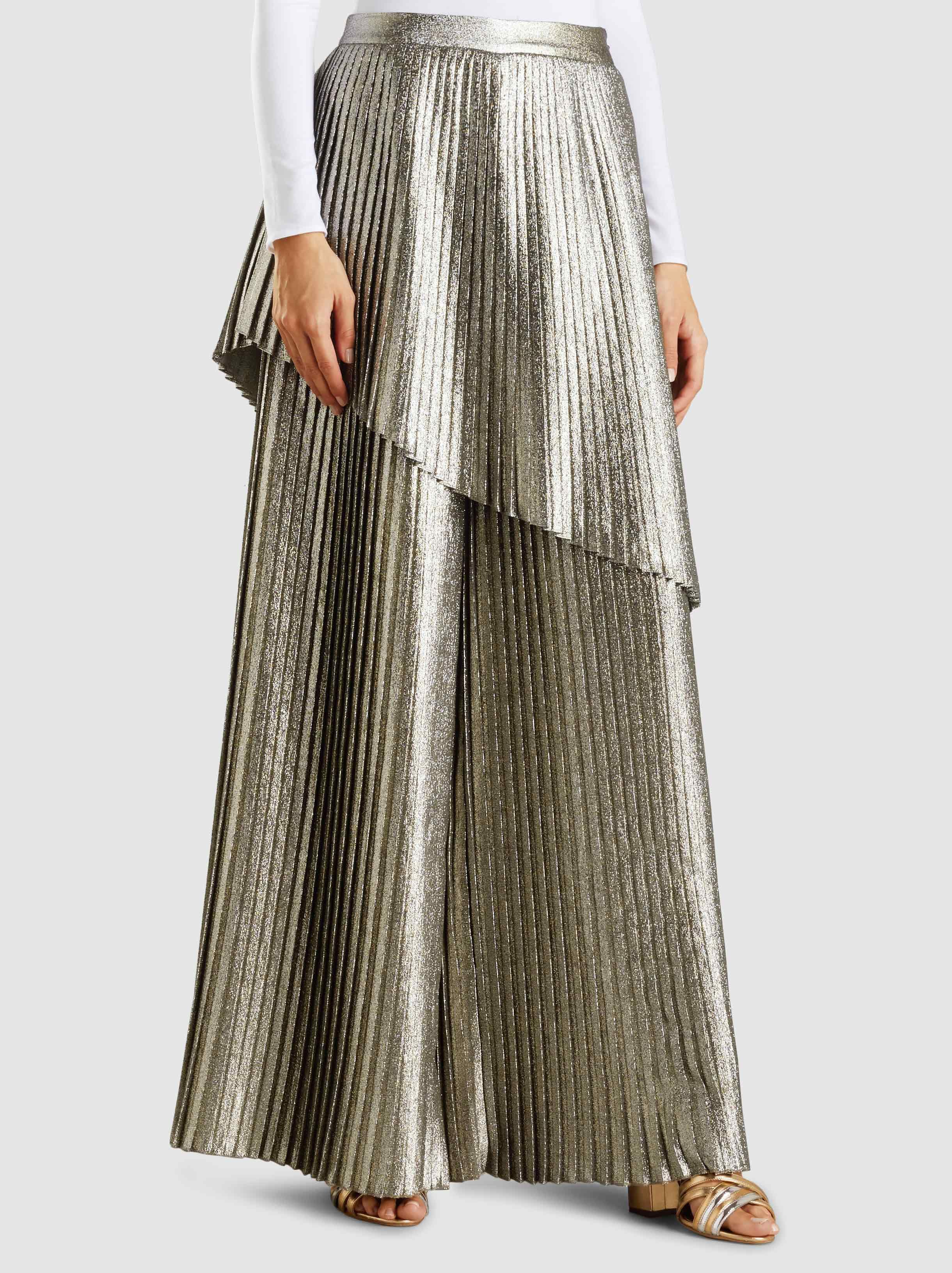 Outlet Store Cheap Online Metallic Pleated Wide-Leg Trousers SemSem Buy Cheap New Styles Discount Comfortable Classic mnD2oAo7I