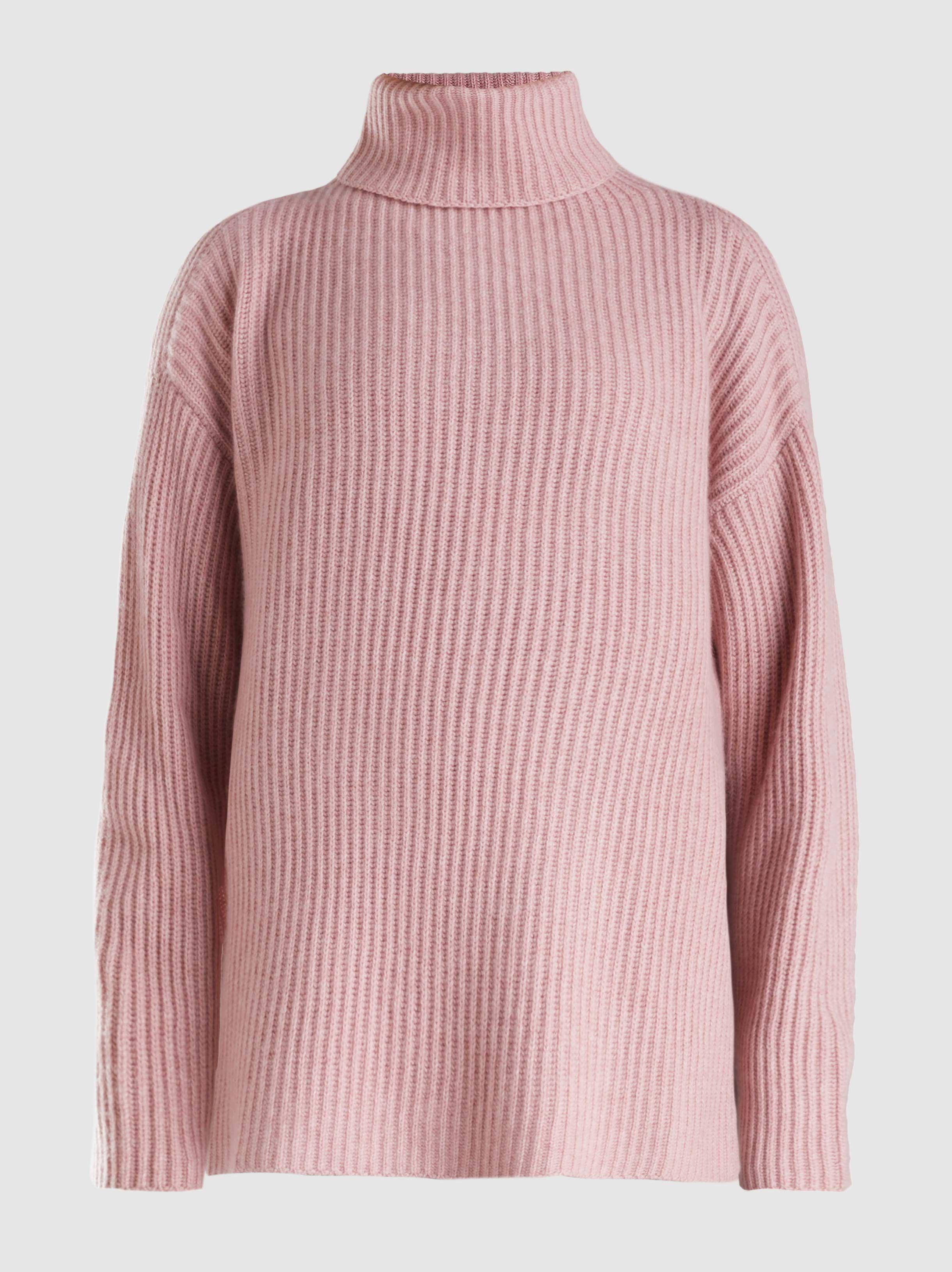 fce4755f1622c5 Tap to visit site. Le Kasha - Pink Lisbon Oversized Roll Neck Cashmere  Sweater - Lyst