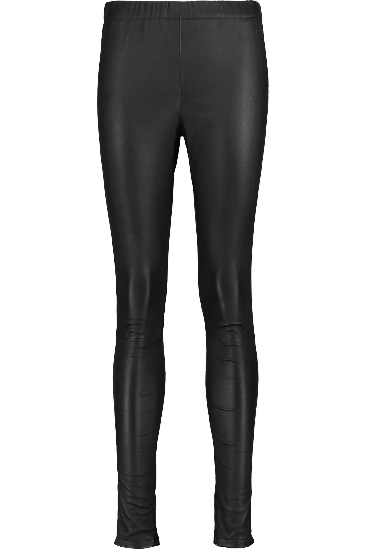 Iris & Ink. Women's Black Lila Stretch-leather Leggings