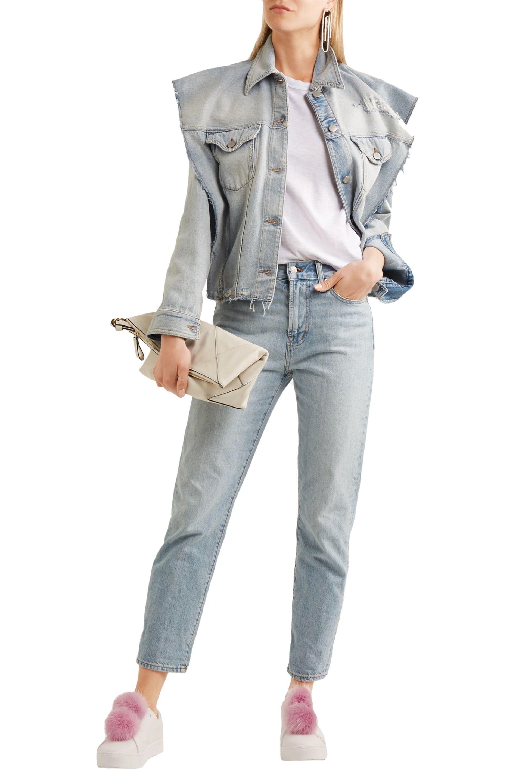 7ceb79c348507d Sam Edelman - White Leya Faux Fur-trimmed Leather Slip-on Sneakers - Lyst.  View fullscreen