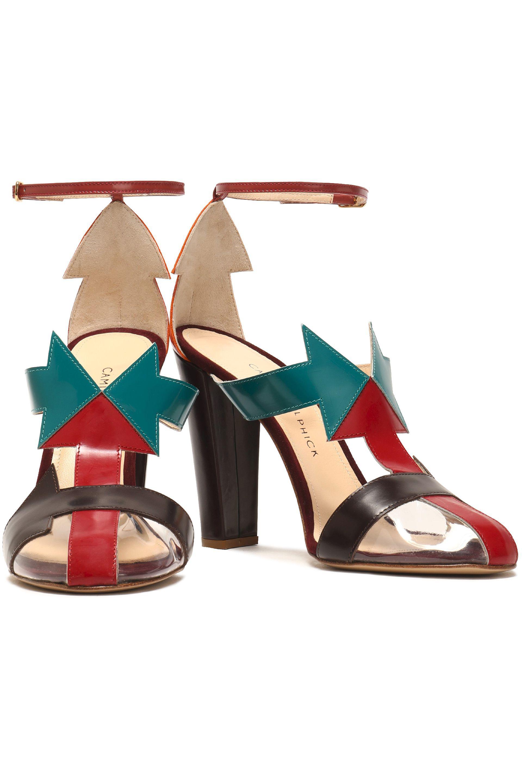 Camilla Elphick Woman Pcv-paneled Color-block Leather Sandals Multicolor Size 36 Camilla Elphick NFXY4HzrU8