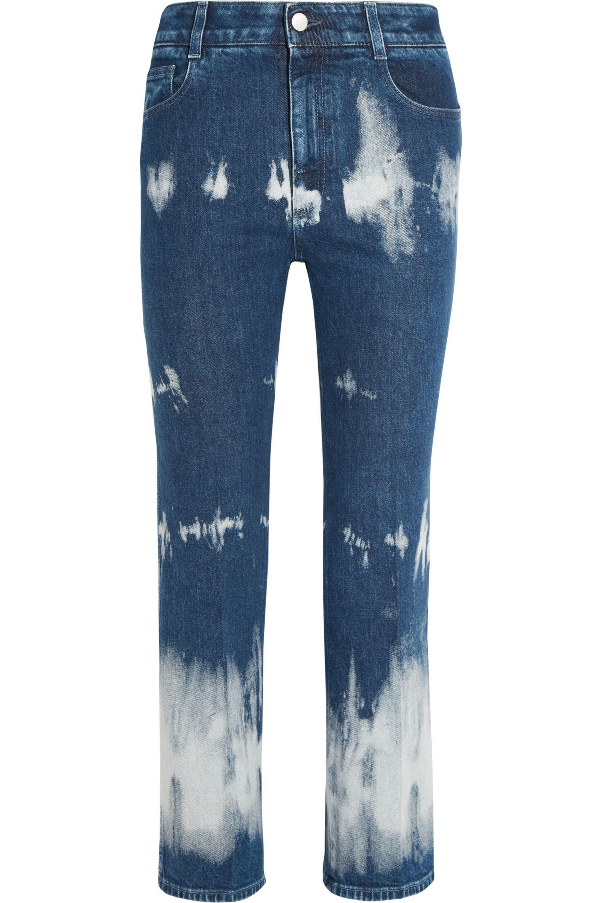 Cropped Distressed High-rise Straight-leg Jeans - Blue Stella McCartney hvmg7C0