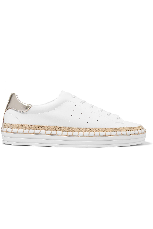 3ec0cc610776 Lyst - Sam Edelman Kavi Leather Sneakers in White