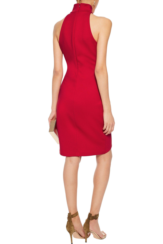 Bailey 44 Woman Orei Wrap-effect Ponte Dress Red Size L Bailey 44 3aZKs8