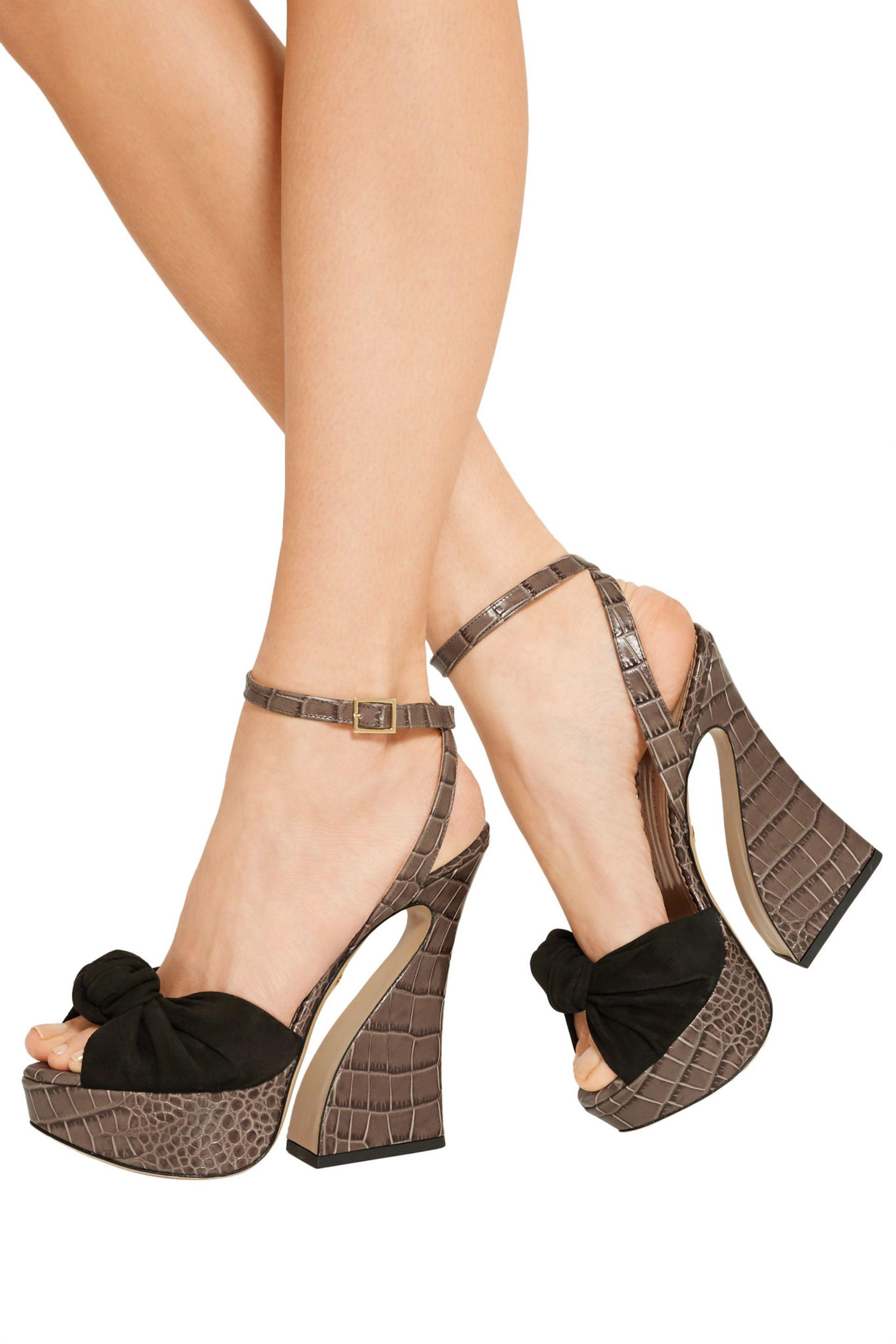 Clearance Get Authentic Low Price Fee Shipping Vreeland croc print sandal Charlotte Olympia Professional Cheap Price 6d6lPRcg