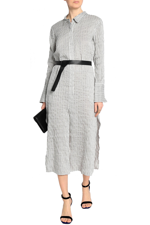 7cb2741c9cdd halston-heritage-Off-white-Belted -Striped-Linen-blend-Seersucker-Midi-Shirt-Dress.jpeg