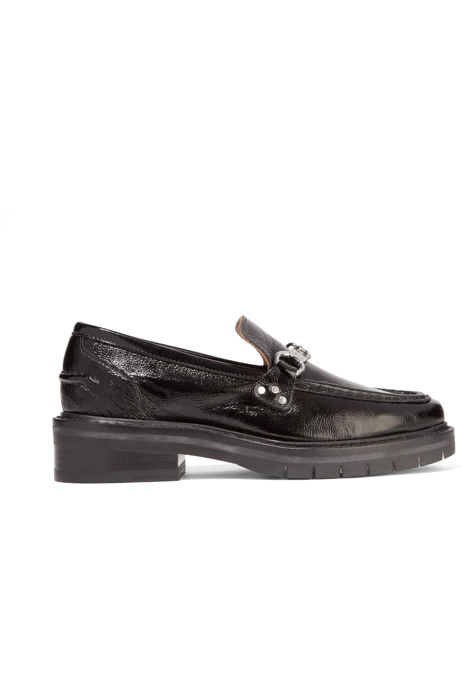 Proenza Schouler Black Suede Weiss Slip-On Loafers f7KvSZWFQl