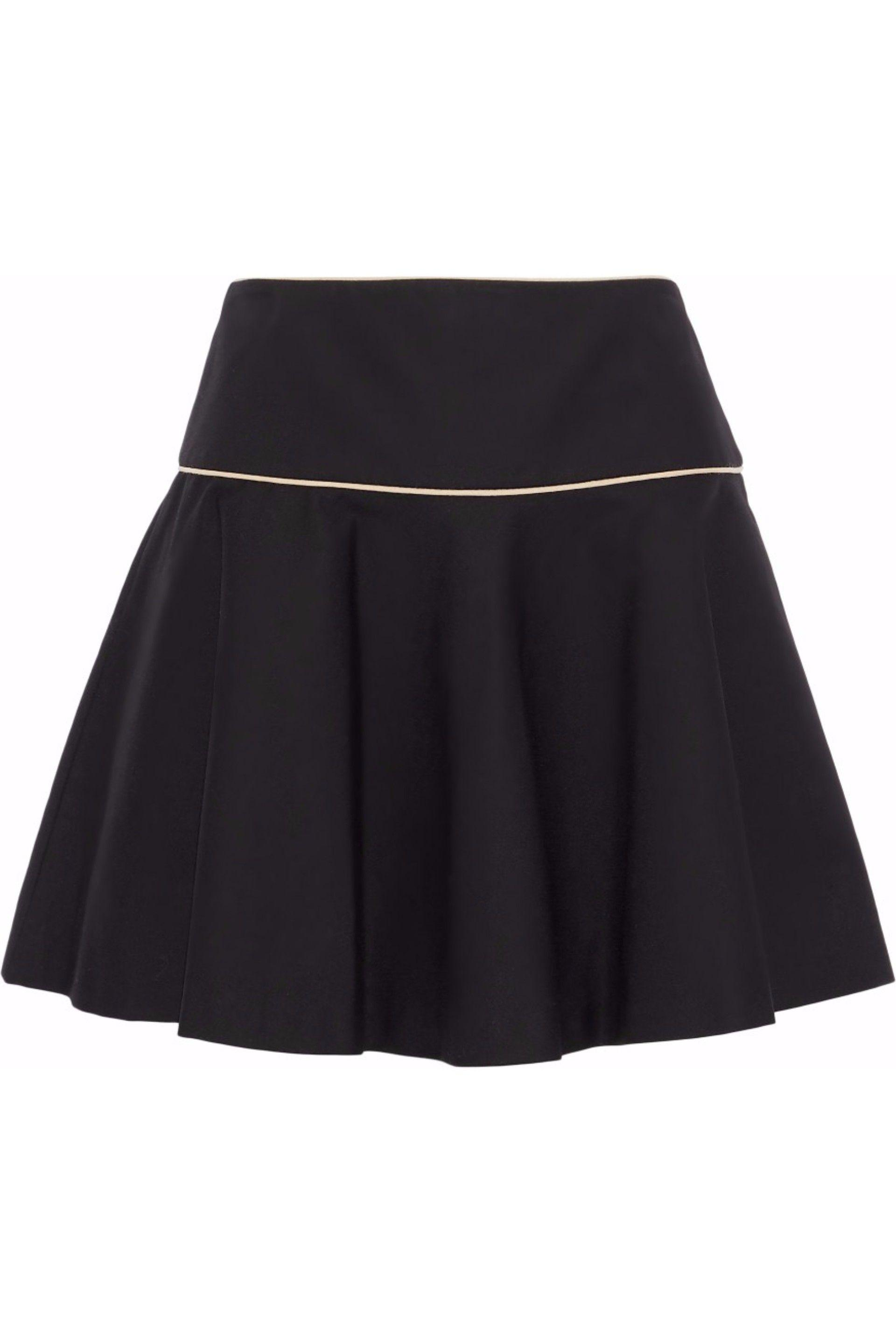 4d4db8cca0 RED Valentino. Women's Woman Flared Stretch-cotton Ponte Mini Skirt Black
