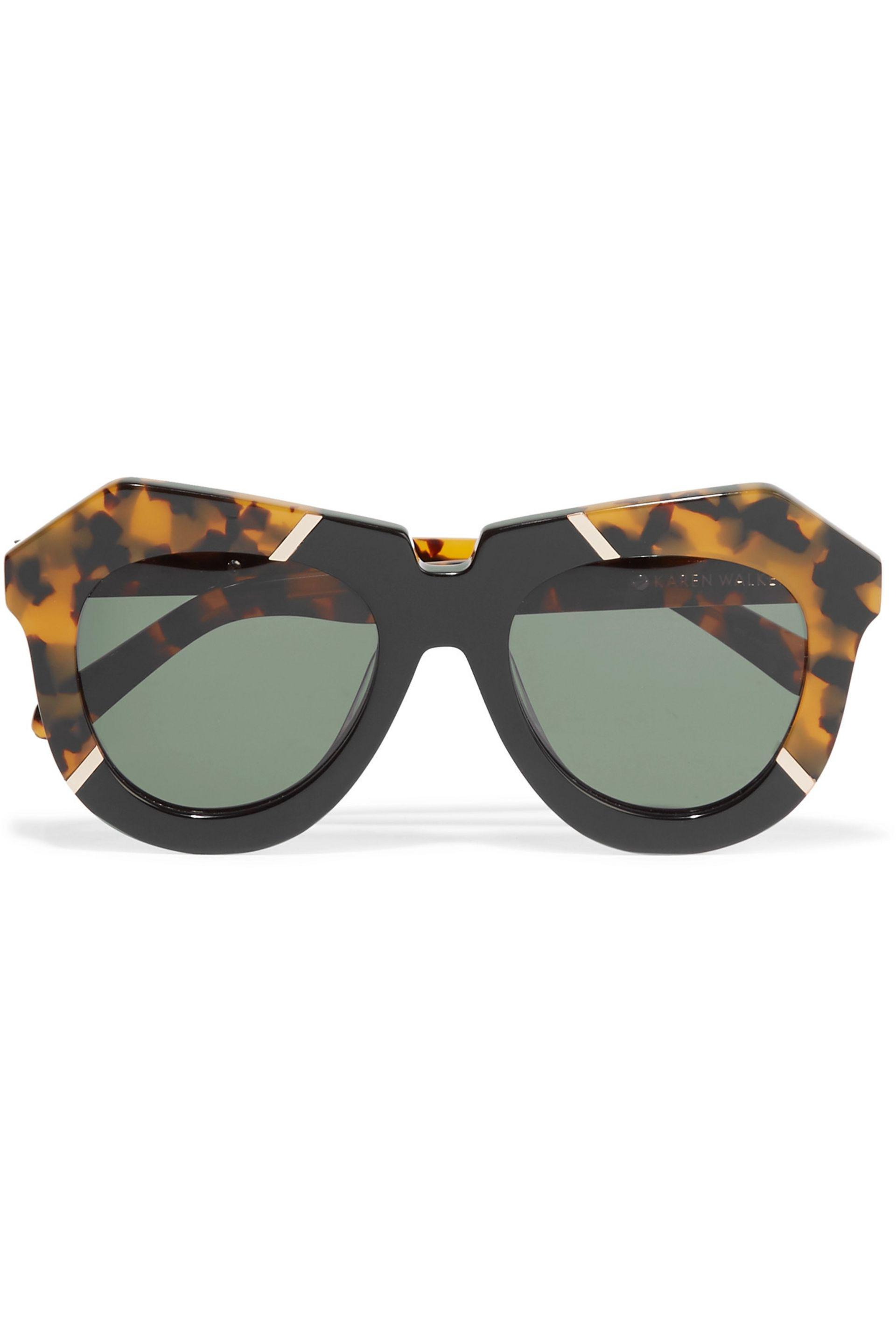 Karen Walker Woman Hollywood Pool Round-frame Acetate Glasses Brown Size ONESIZE Karen Walker GA6QWTZPYs