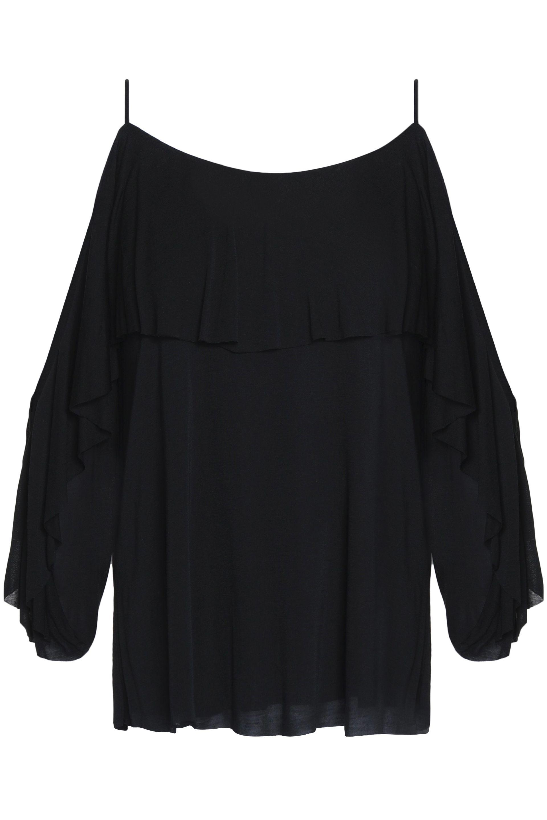 Cheap Sale Pre Order Free Shipping Low Shipping Fee Bailey 44 Woman Off-the-shoulder Smocked Crepe De Chine Top Black Size M Bailey 44 UuPUISt