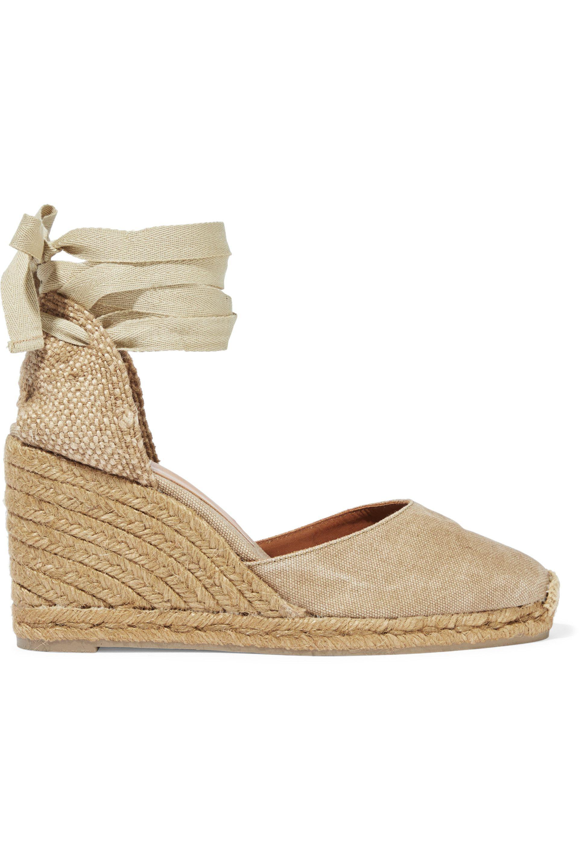 bb9fd863d2a Castaner - Natural Castañer Woman Carina 80 Canvas Wedge Espadrilles  Mushroom - Lyst