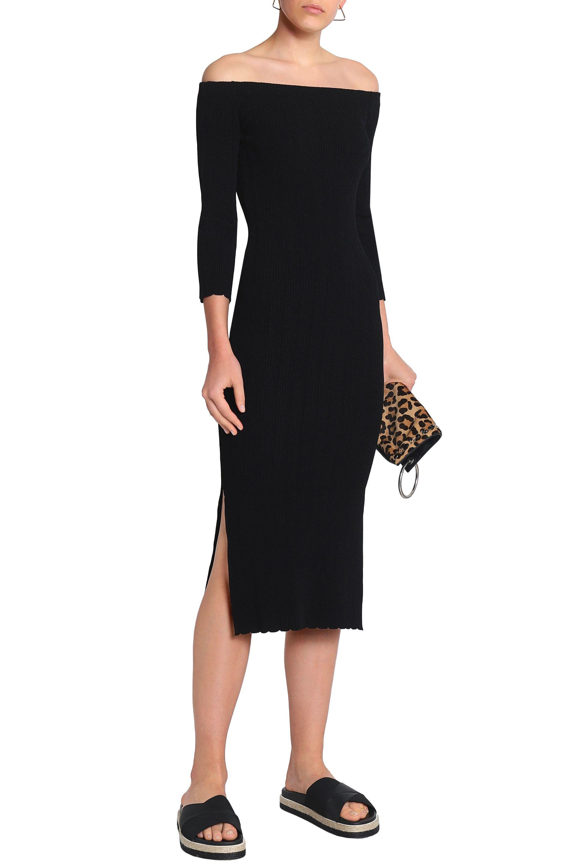 0e2c6030f18 ... Woman Ribbed-knit Midi Dress Black - Lyst. View fullscreen