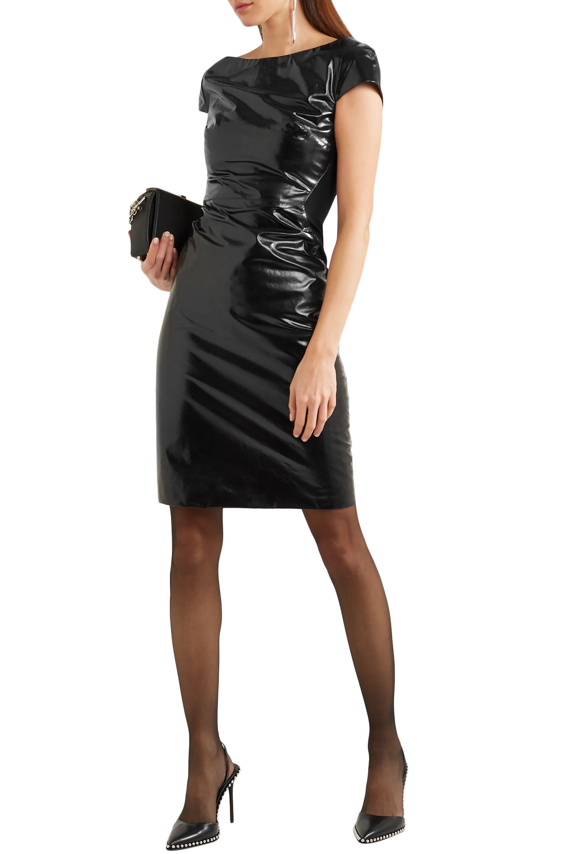 041fa5b4fb Gareth Pugh - Woman Glossed-leather And Jersey Dress Black - Lyst. View  fullscreen