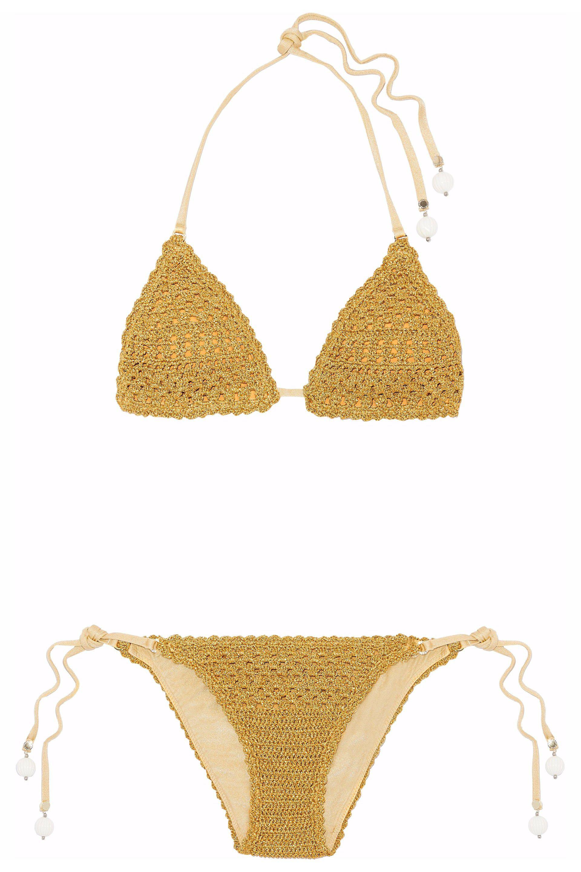 Cotton-blend crochet charm bikini Stella McCartney New Sale Online Order Online Ebay Online Buy Cheap Pay With Visa eDjTou