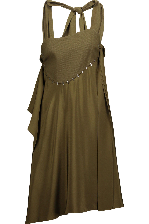 3.1 Phillip Lim. Women's Embellished Paneled Silk-satin And Wool-blend Dress  ...