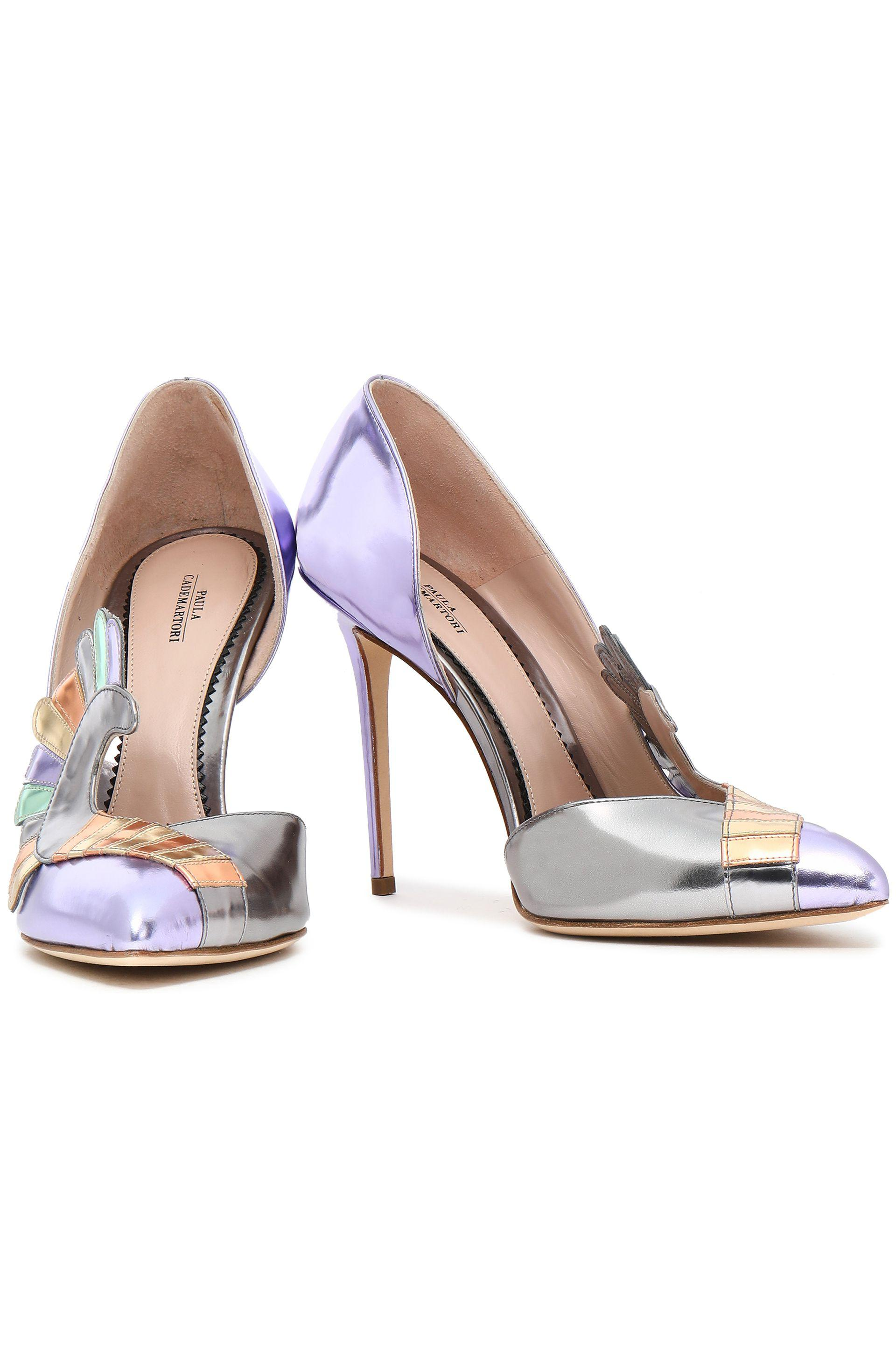 pretty nice 88218 10b47 paula-cademartori-Multicolor-Embellished-Metallic-Leather-Pumps.jpeg
