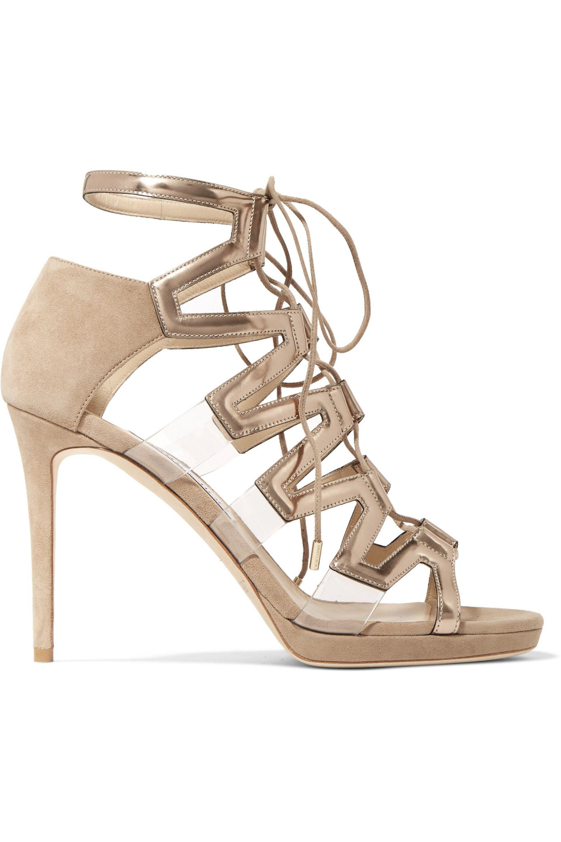 Jimmy Choo Dani 100 Suede & Mirr... on hot sale cheap outlet 0FpQmQ
