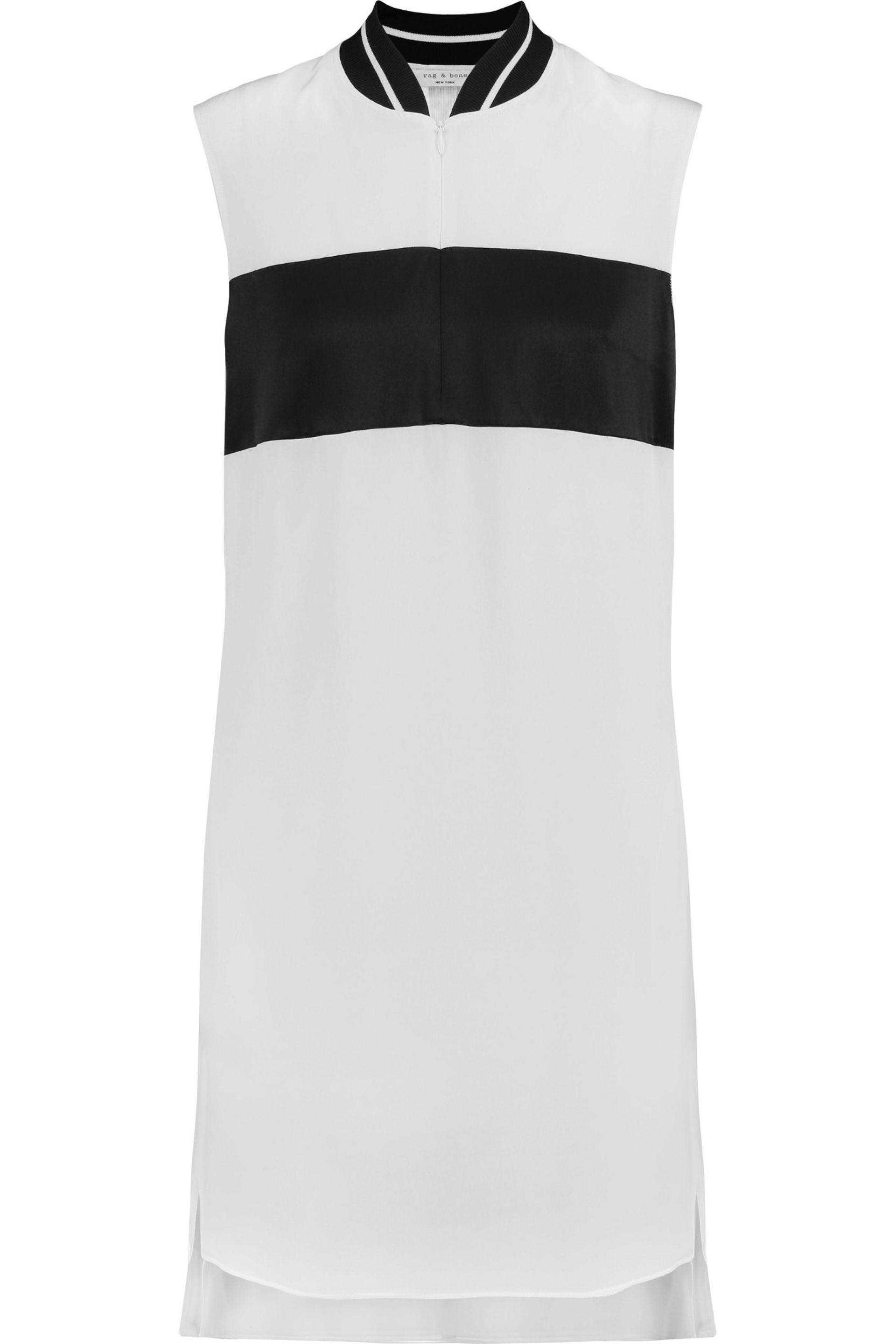 Cheap Sale High Quality For Sale Cheap Price From China Rag & Bone Woman Phoebe Leather-trimmed Checked Twill Mini Dress Black Size 2 Rag & Bone With Credit Card For Sale gK8MjUfyk9
