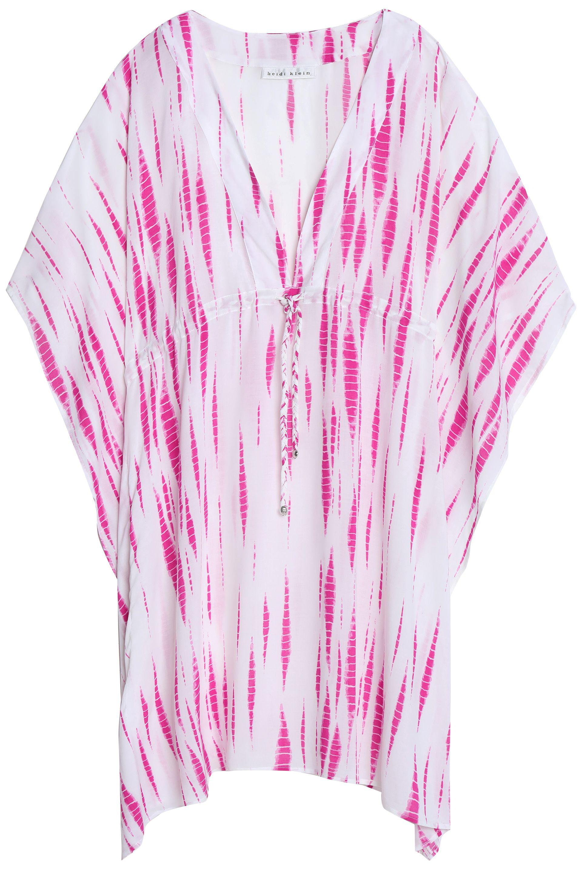 541533448267b Lyst - Heidi Klein Printed Stretch-knit Cover-up in Pink