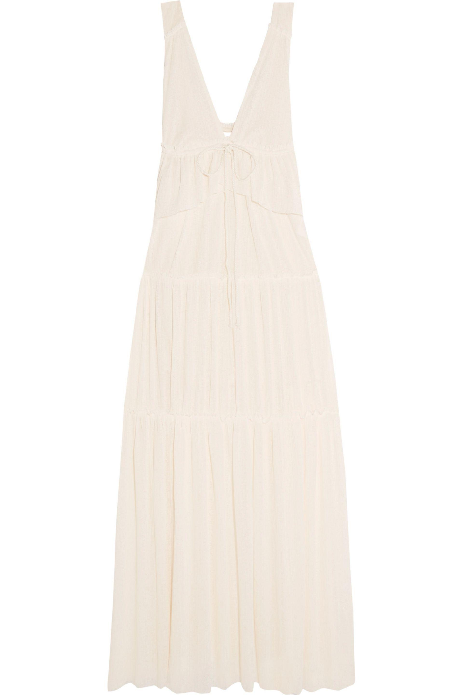 See By Chloé Woman Tiered Voile Maxi Dress Ecru Size L See By Chloé Sale Professional Many Kinds Of Cheap Online SQ1PBgJDZ8