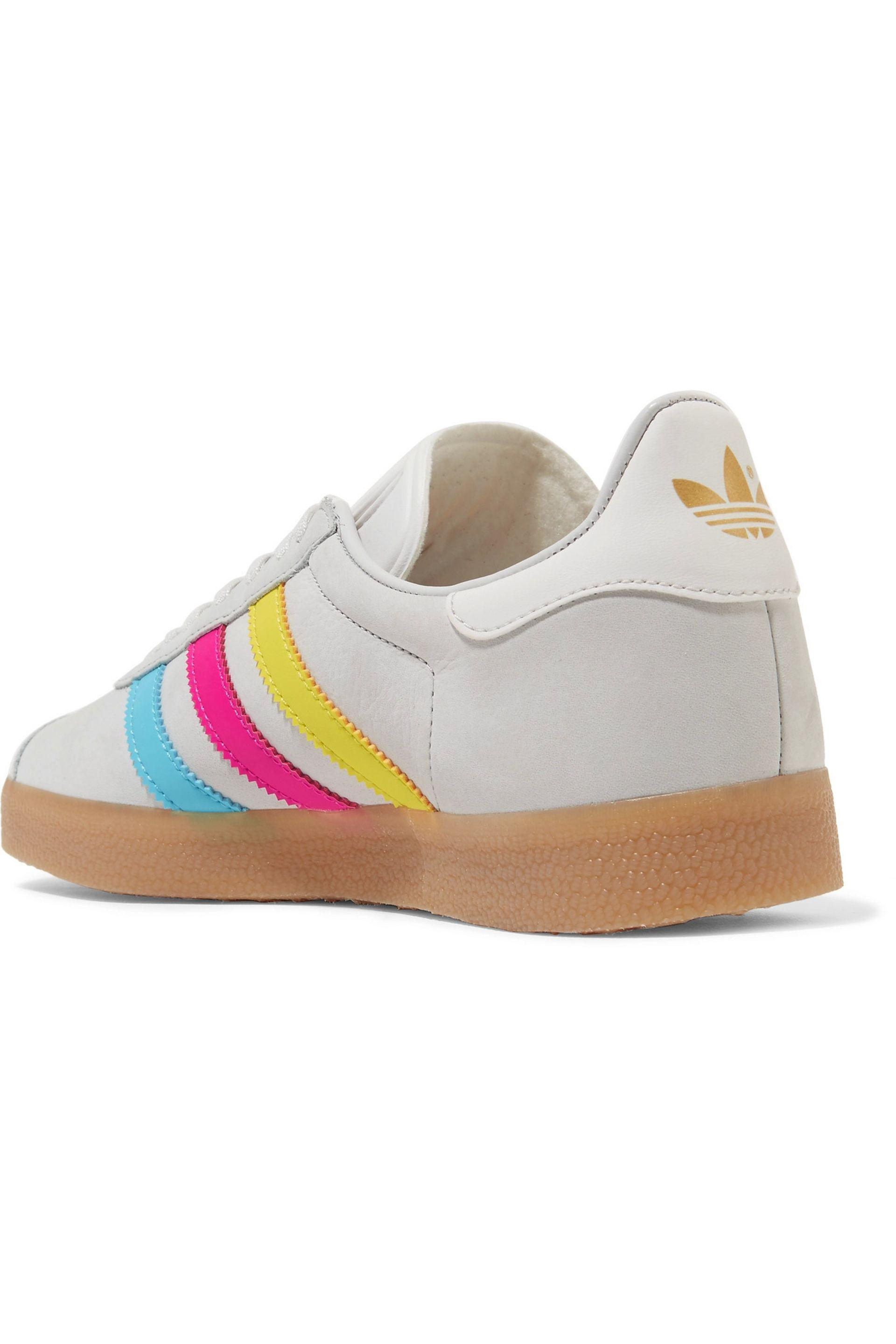 c82e4db10e1537 Lyst - adidas Originals Gazelle Leather-trimmed Nubuck Sneakers in Gray