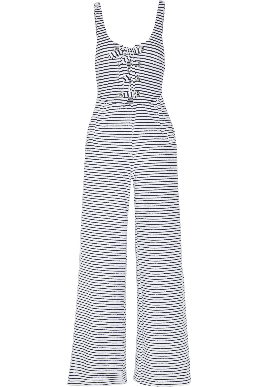8c3e6e2fbdcf Mara Hoffman Striped Organic Cotton-blend Terry Jumpsuit in Blue - Lyst