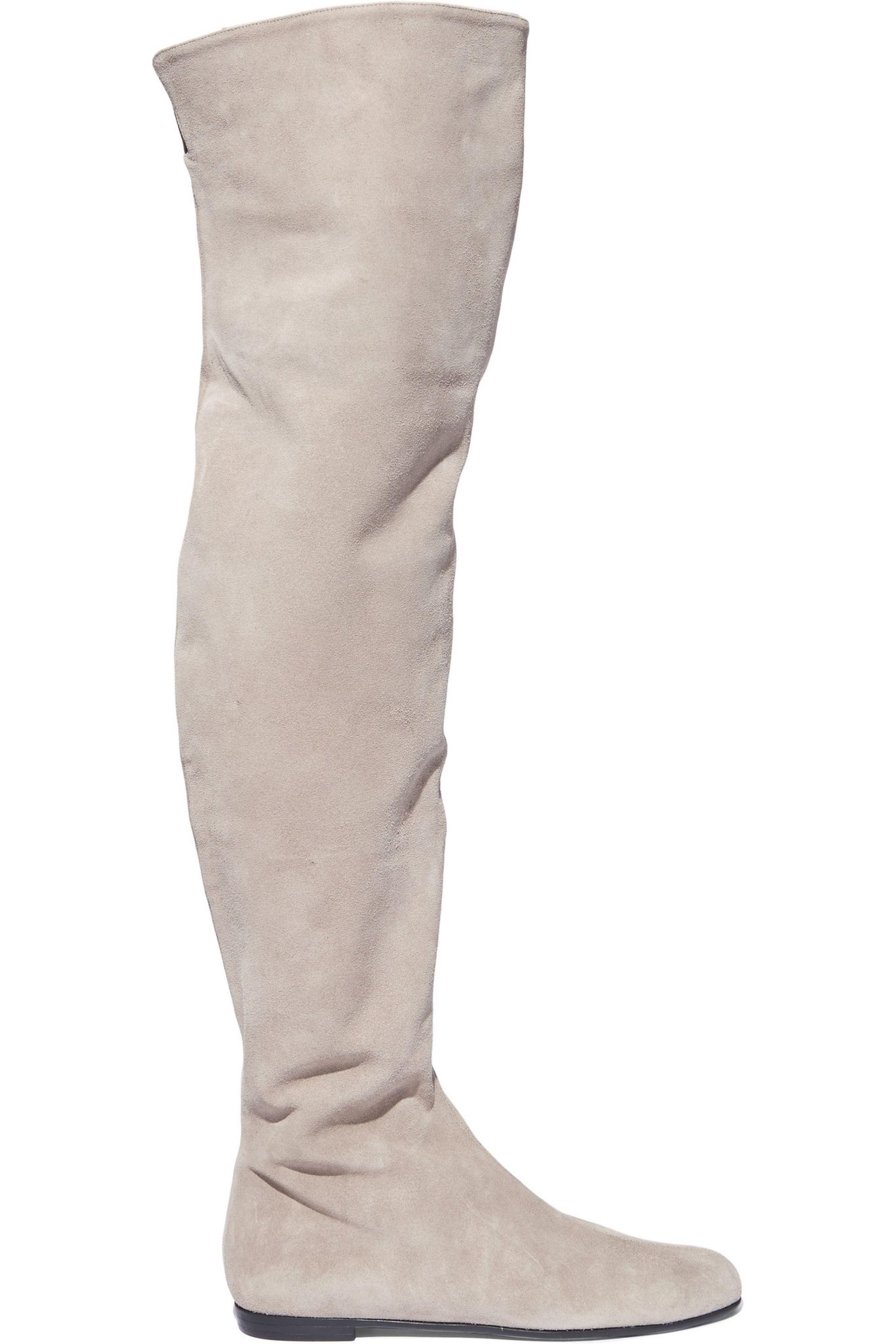 Giuseppe Zanotti. Women's Natural Suede Over-the-knee Boots