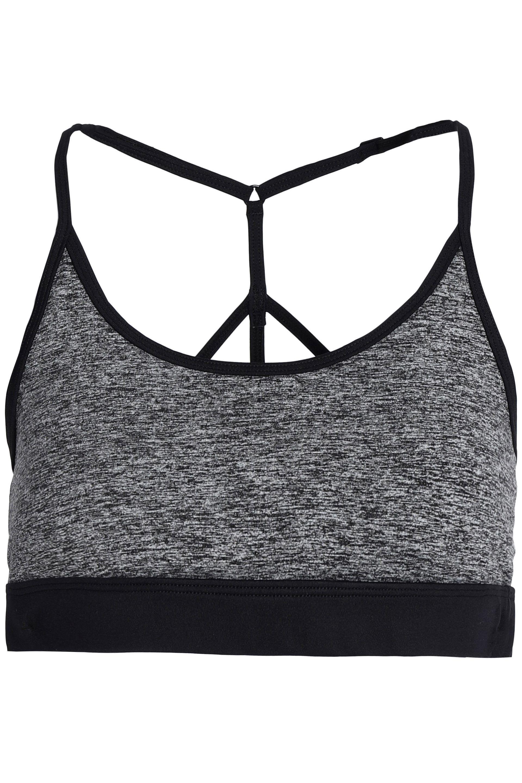 Koral Woman Mélange Stretch Sports Bra Dark Gray Size L Koral Cheap Sale Best l0OyklLQ1n