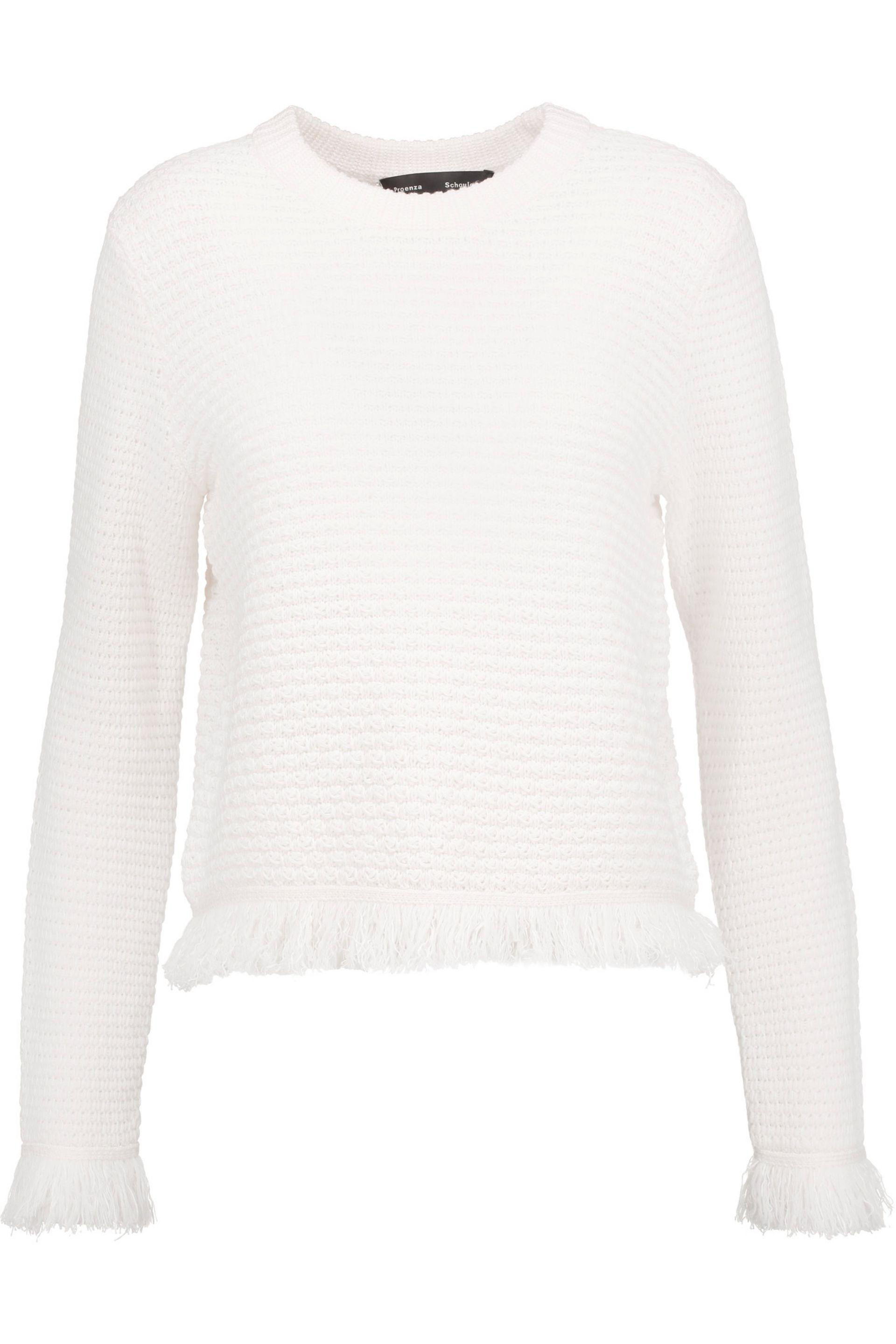 Wool White Sweater Schouler Blend Proenza Color 4qwS8gg5