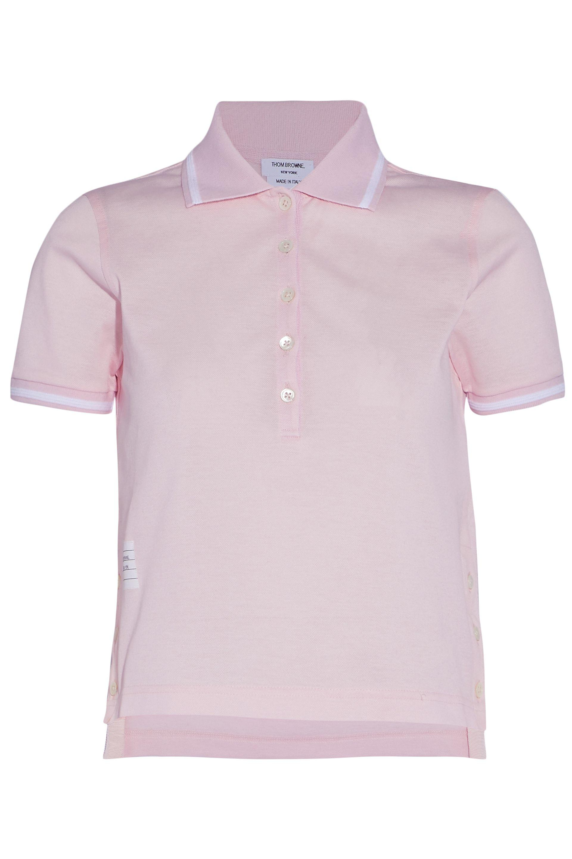 Outlet Top Quality Clearance Extremely Striped Cotton-piqué Polo Shirt - Pastel pink Thom Browne Cheap Real Eastbay ql4i0PAon